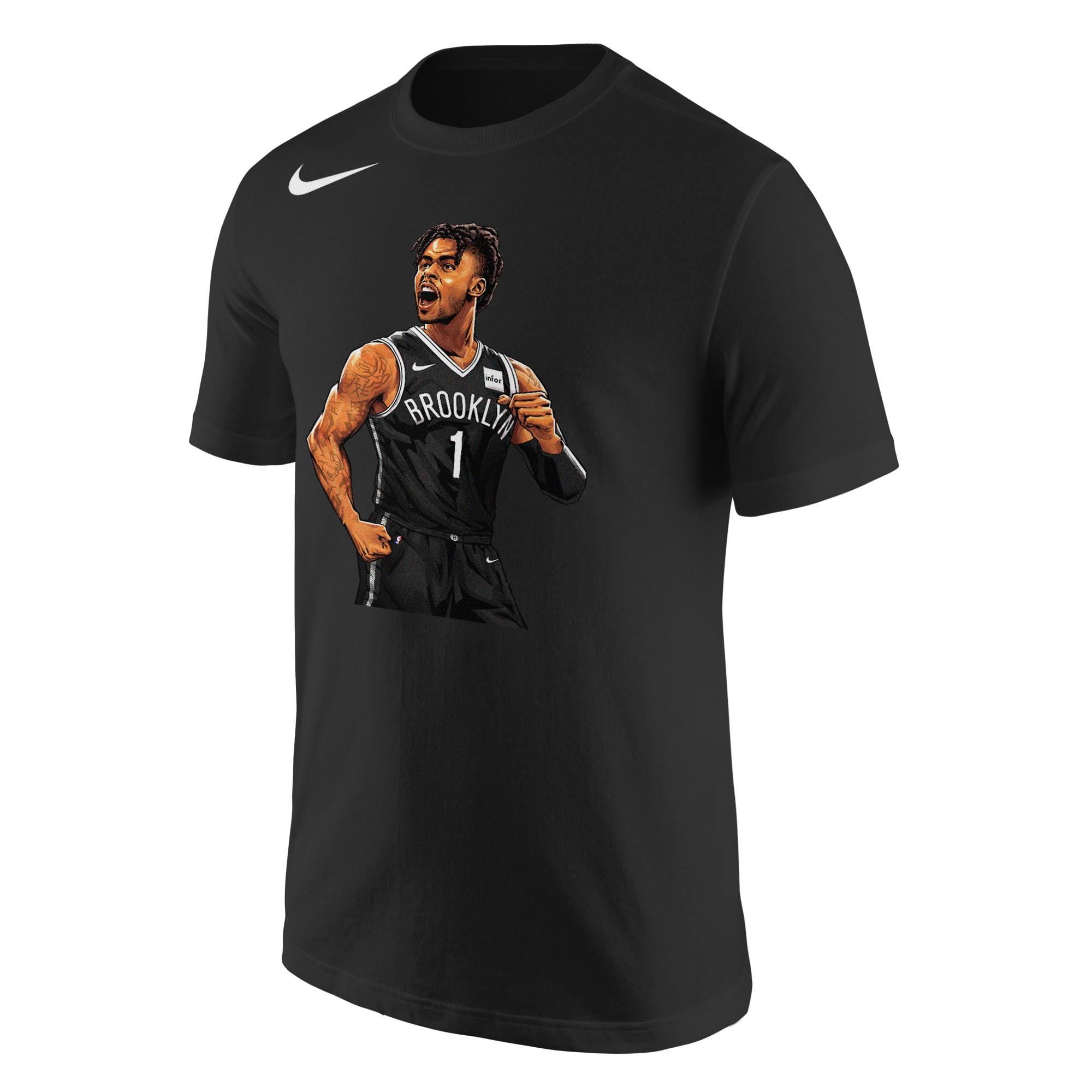 D'Angelo Russell Brooklyn Nets Nike 2019 NBA Playoffs Bound Hero T-Shirt - Black