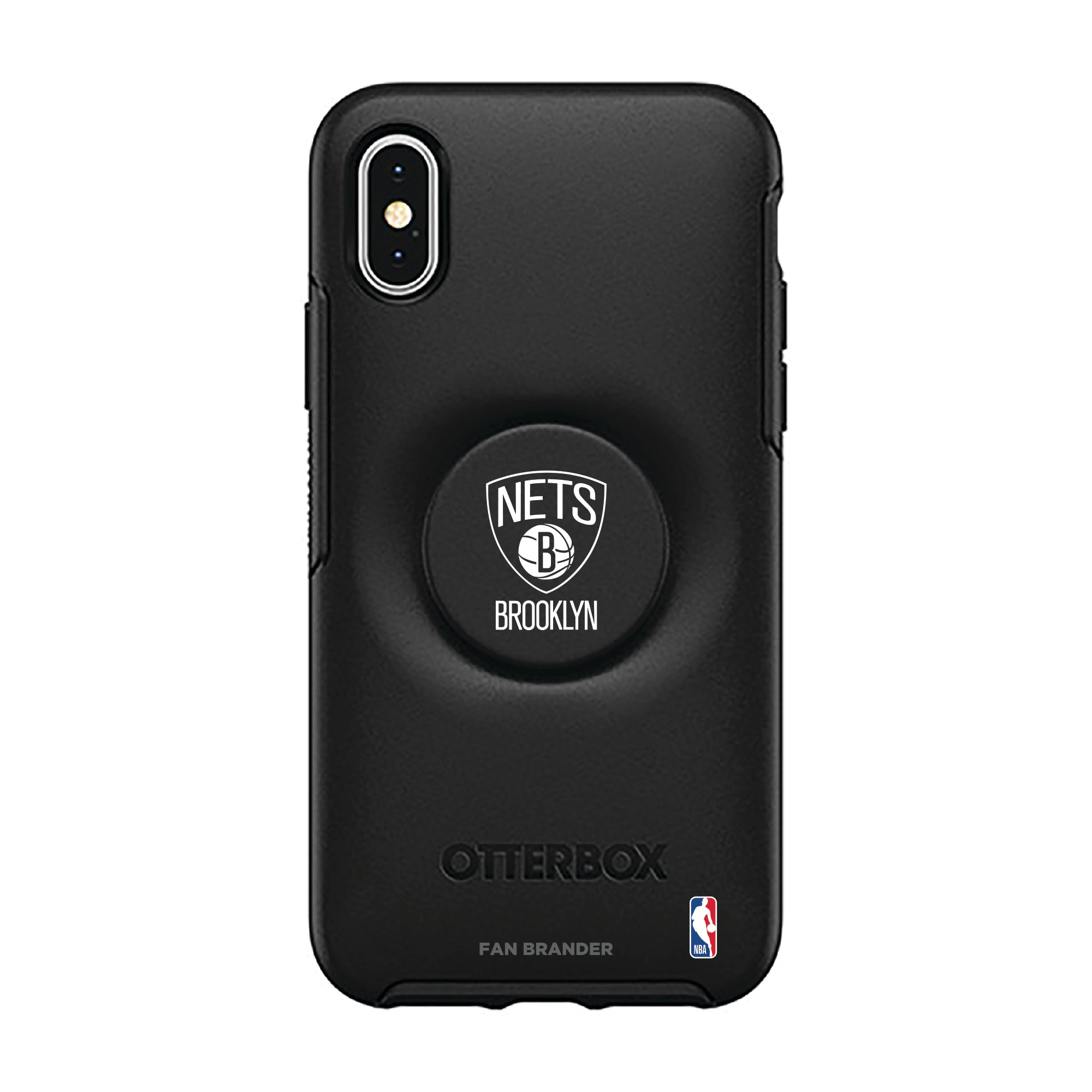 Brooklyn Nets OtterBox Otter + Pop Symmetry Series iPhone Case with Integrated PopSockets PopGrip