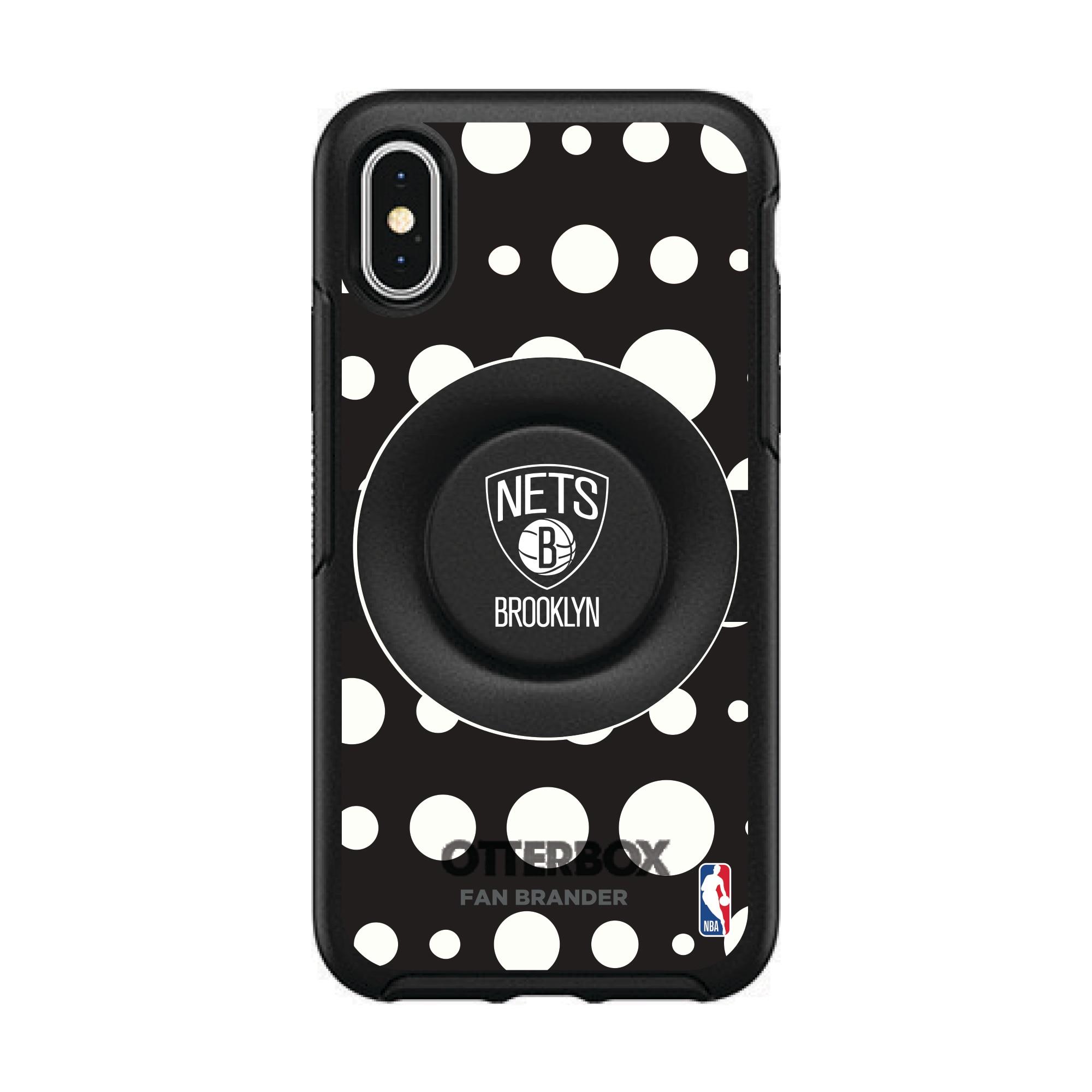 Brooklyn Nets OtterBox Otter+Pop PopSocket Polka Dot iPhone Case