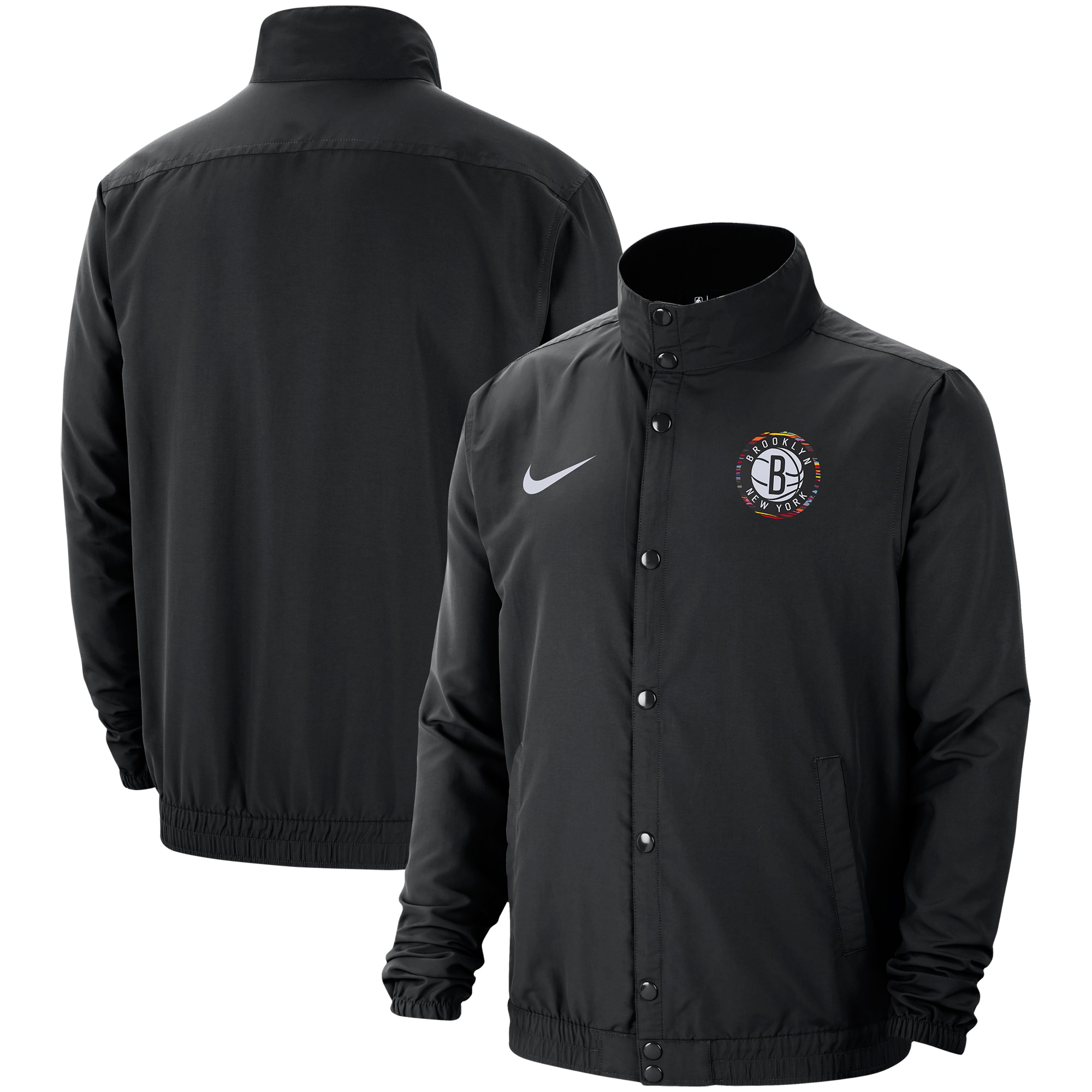 Brooklyn Nets Nike City Edition Lightweight DNA Full-Snap Jacket - Black