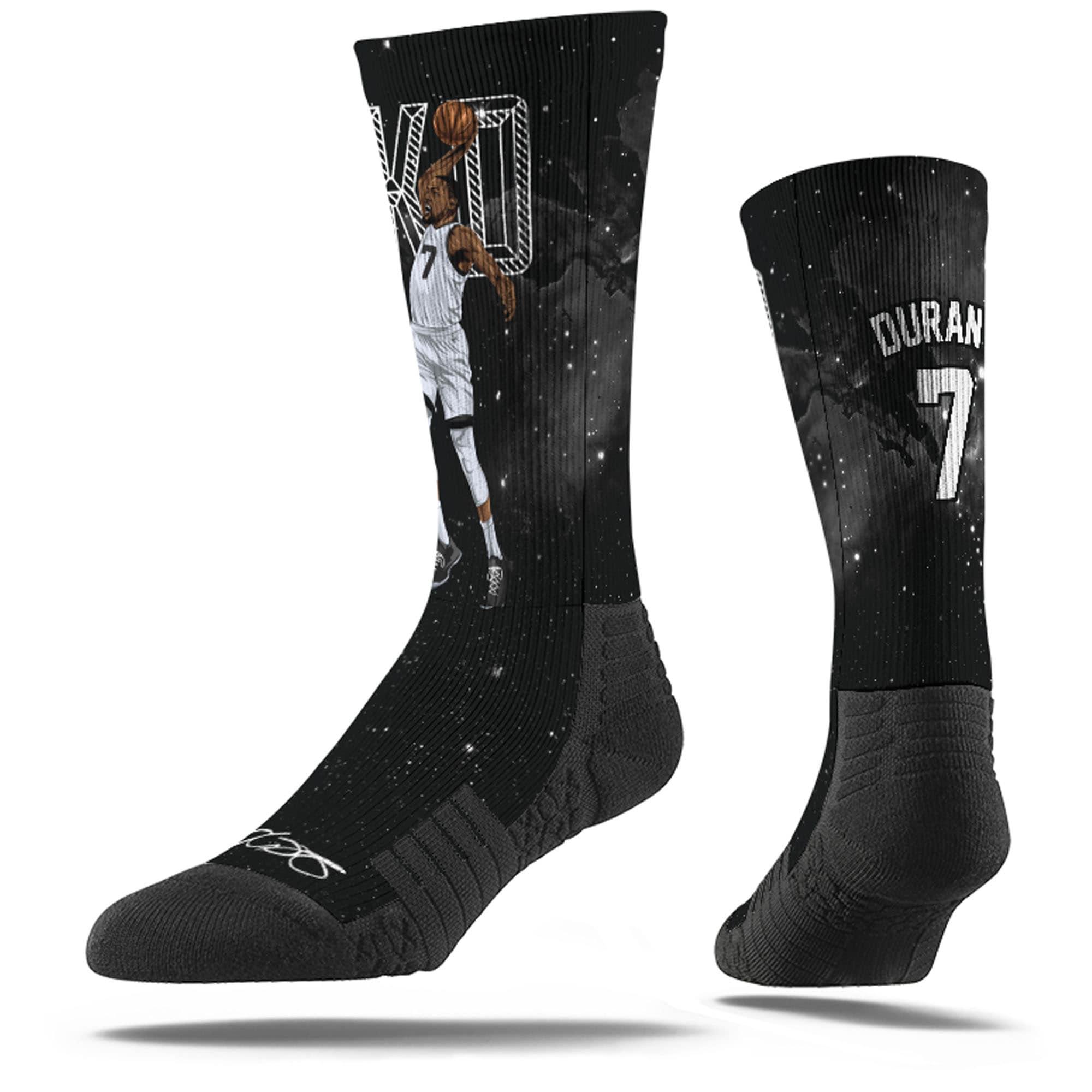 Kevin Durant Brooklyn Nets Strideline Premium Comfy Crew Socks - Black