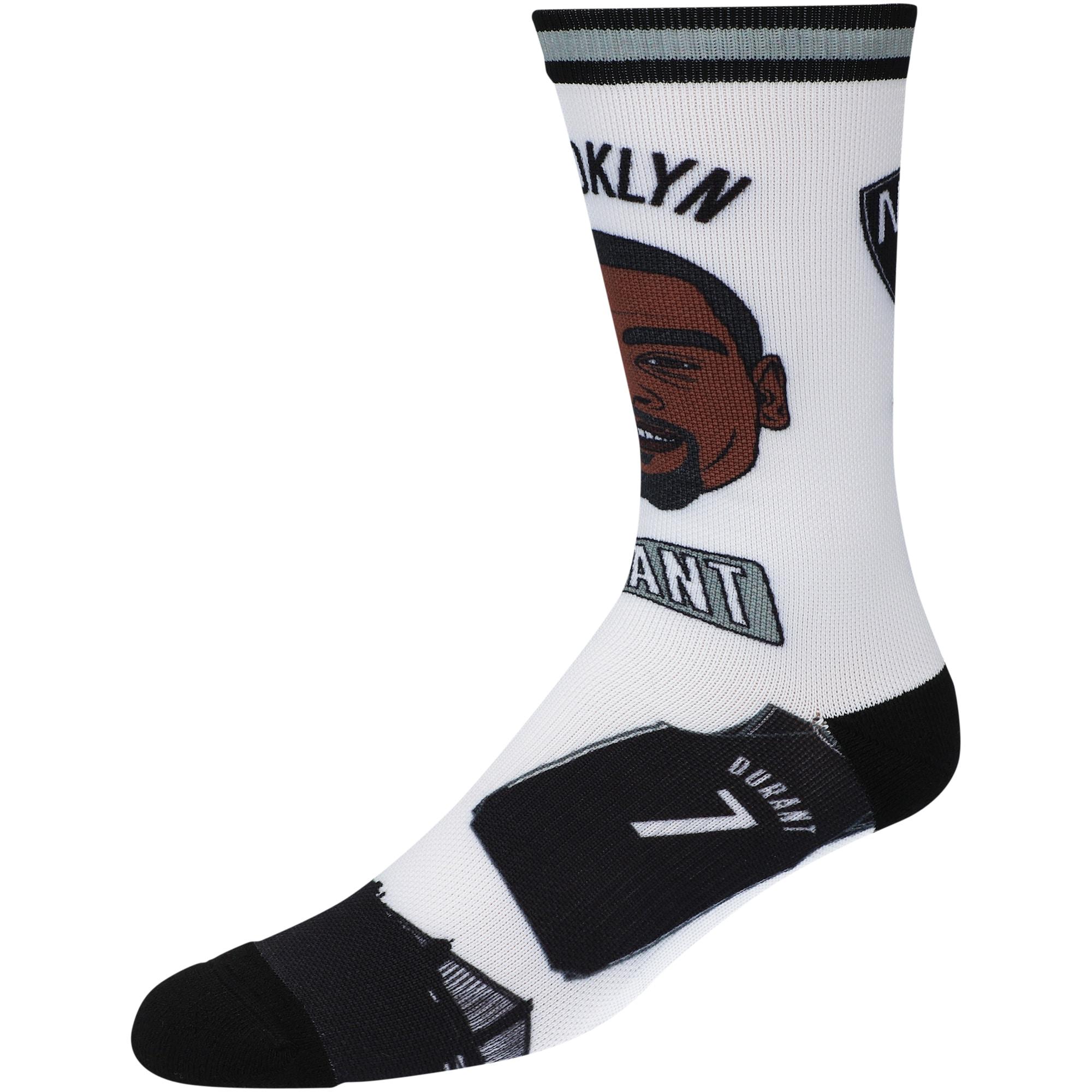 Kevin Durant Brooklyn Nets Player Pins Crew Socks