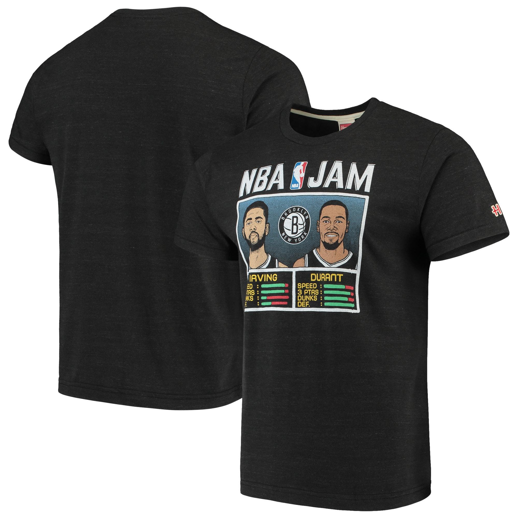 Kevin Durant & Kyrie Irving Brooklyn Nets NBA Jam T-Shirt - Charcoal