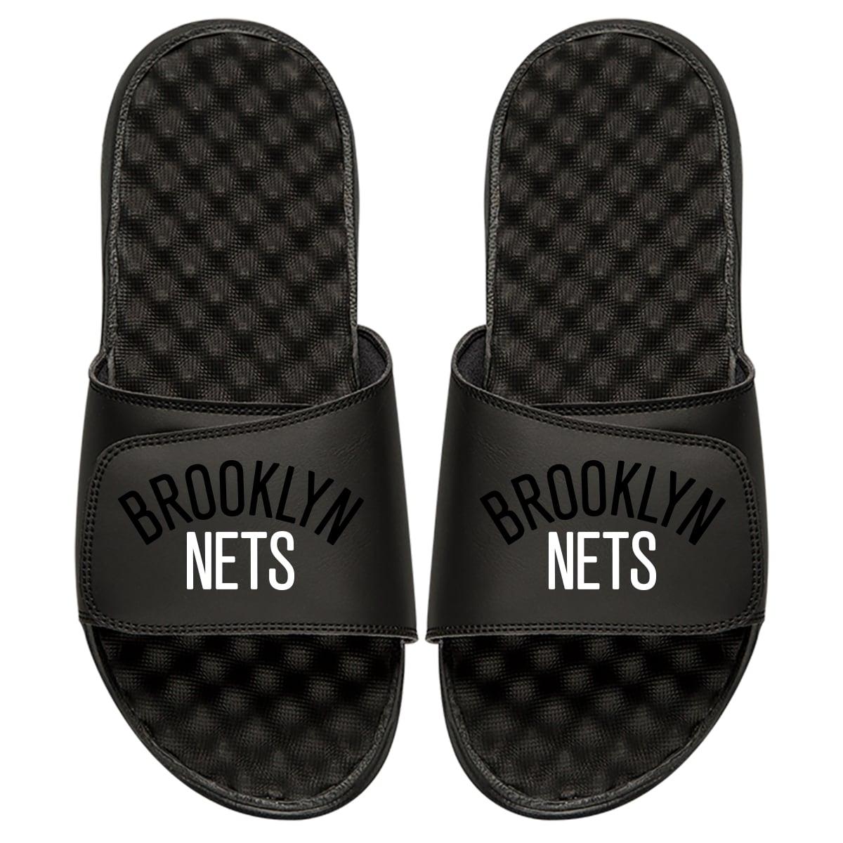 Brooklyn Nets ISlide Tonal Pop Slide Sandals - Black