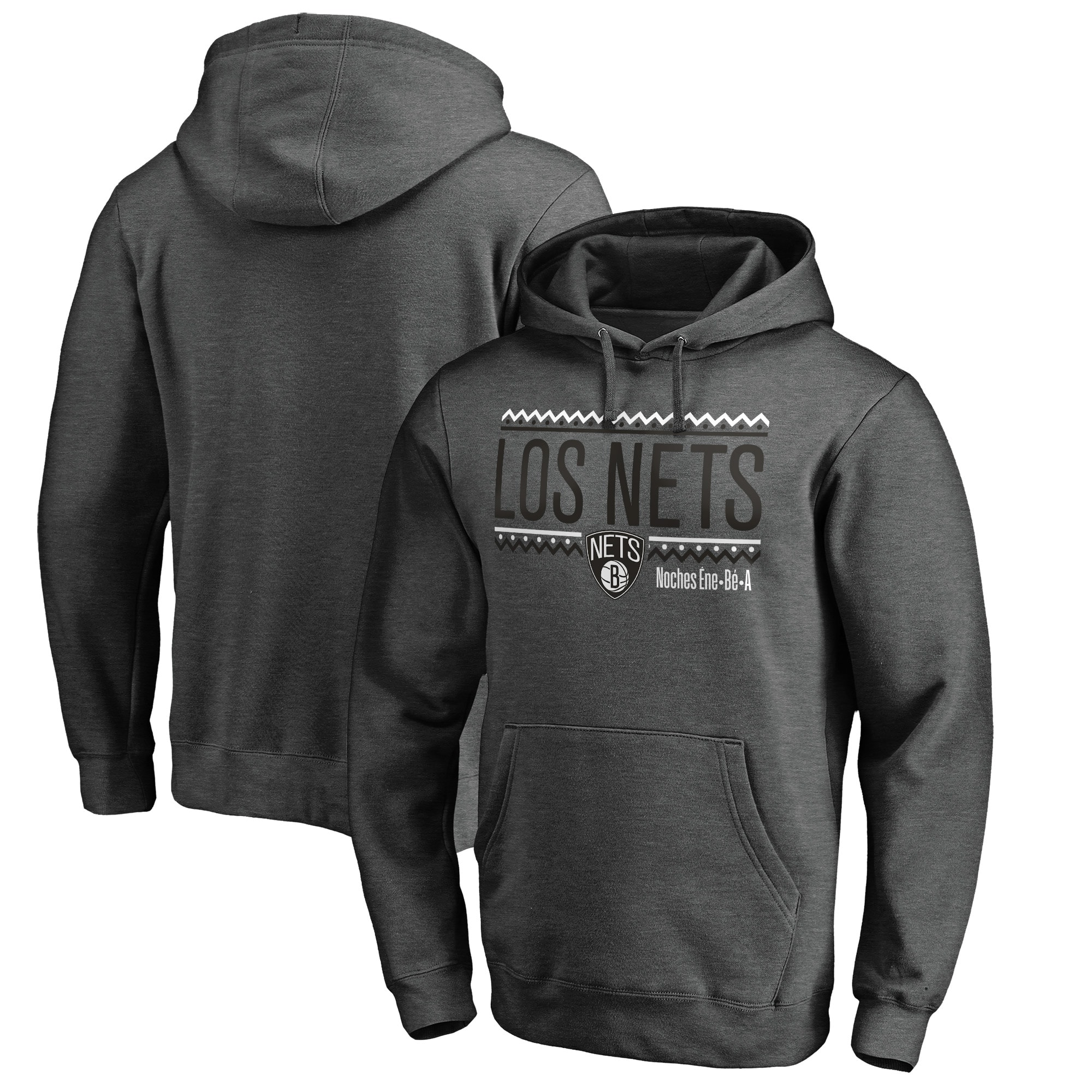 Brooklyn Nets Fanatics Branded Noches Ene-Be-A Pullover Hoodie - Heather Gray