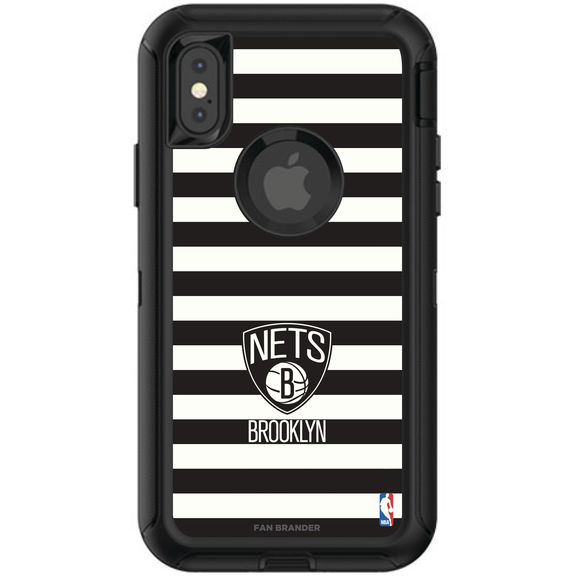 Brooklyn Nets OtterBox iPhone Defender Striped Design Case