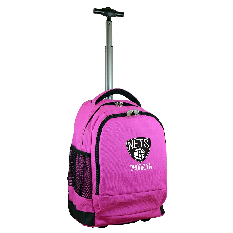 Brooklyn Nets 19'' Premium Wheeled Backpack - Pink