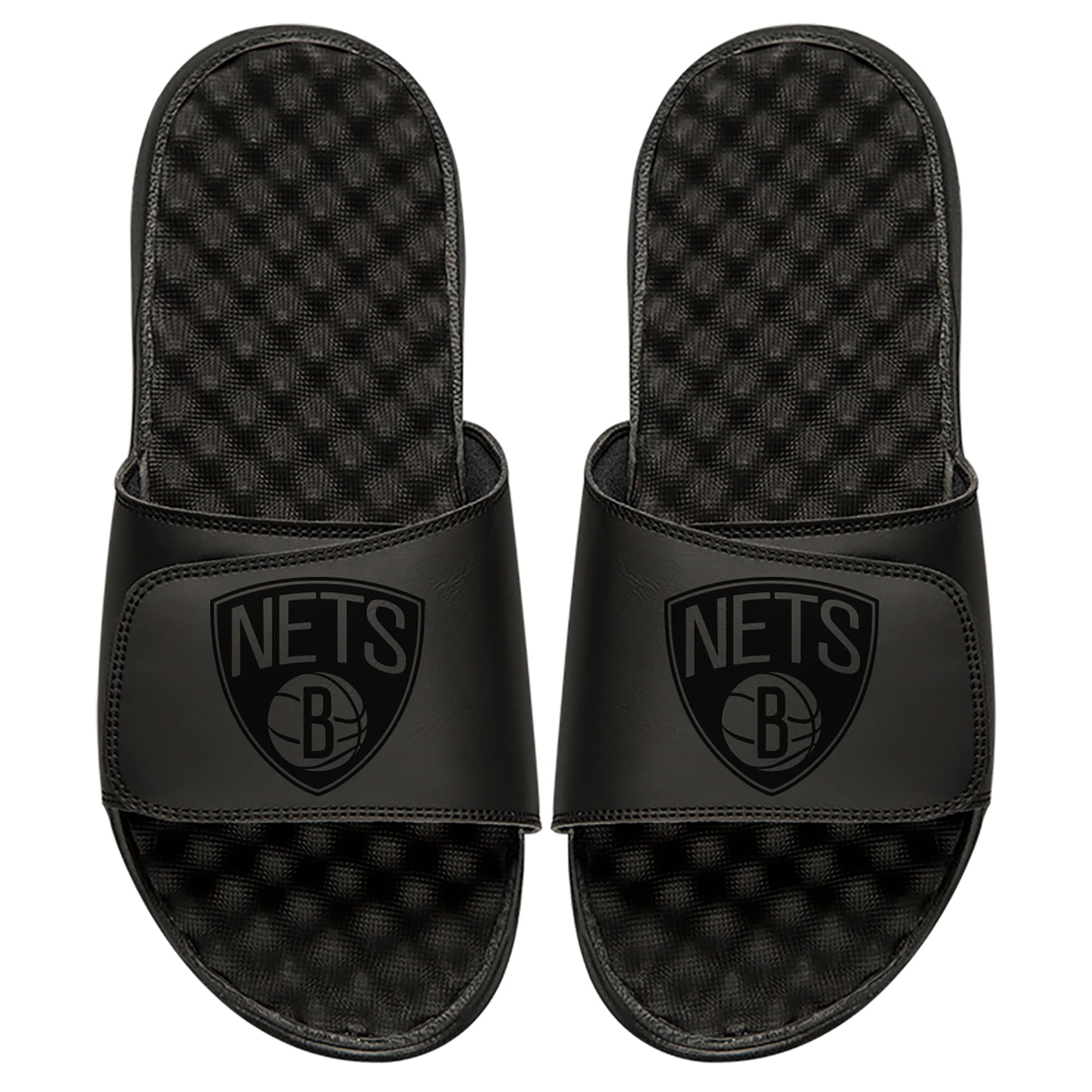 Brooklyn Nets ISlide Tonal Slide Sandals - Black