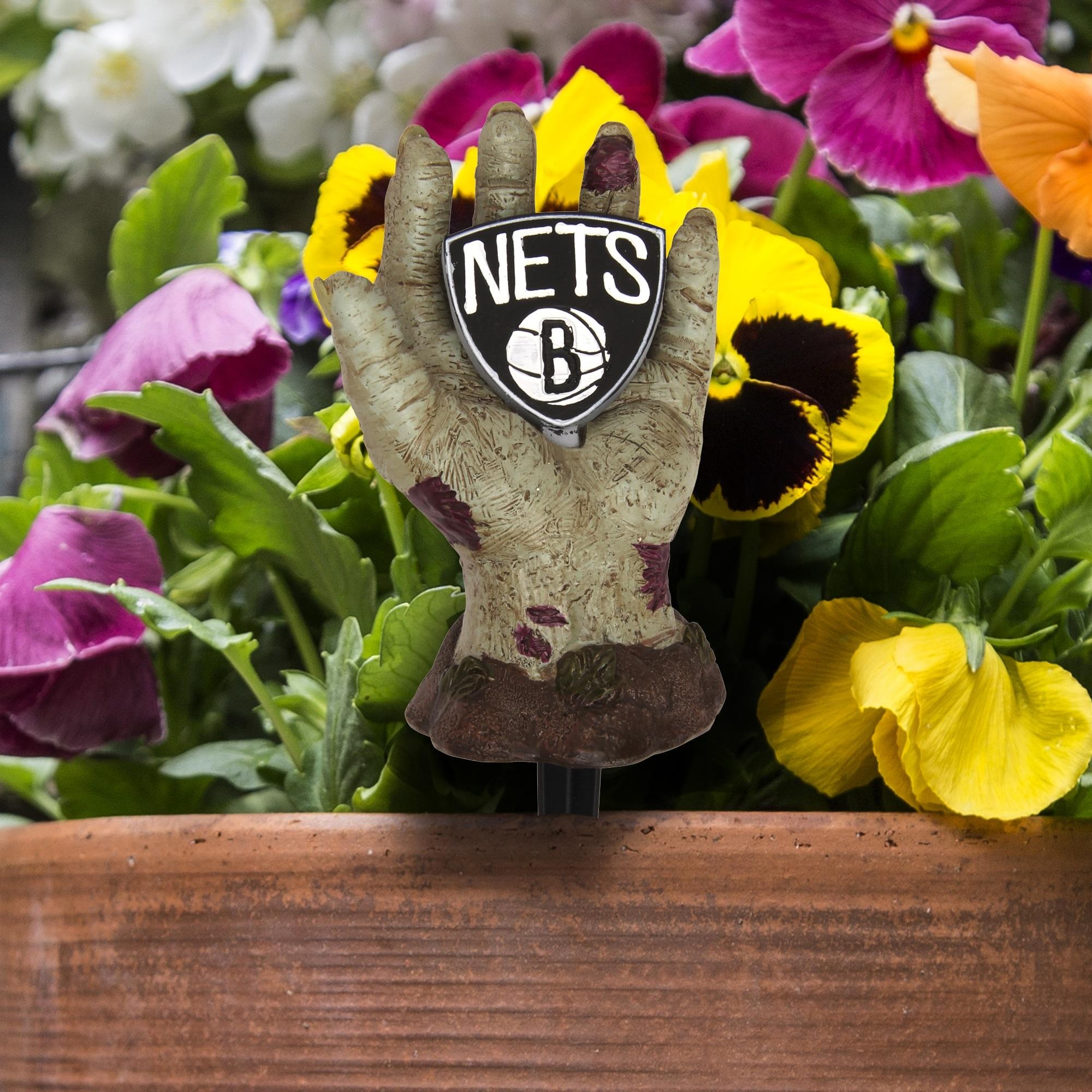 Brooklyn Nets Zombie Hand Stake