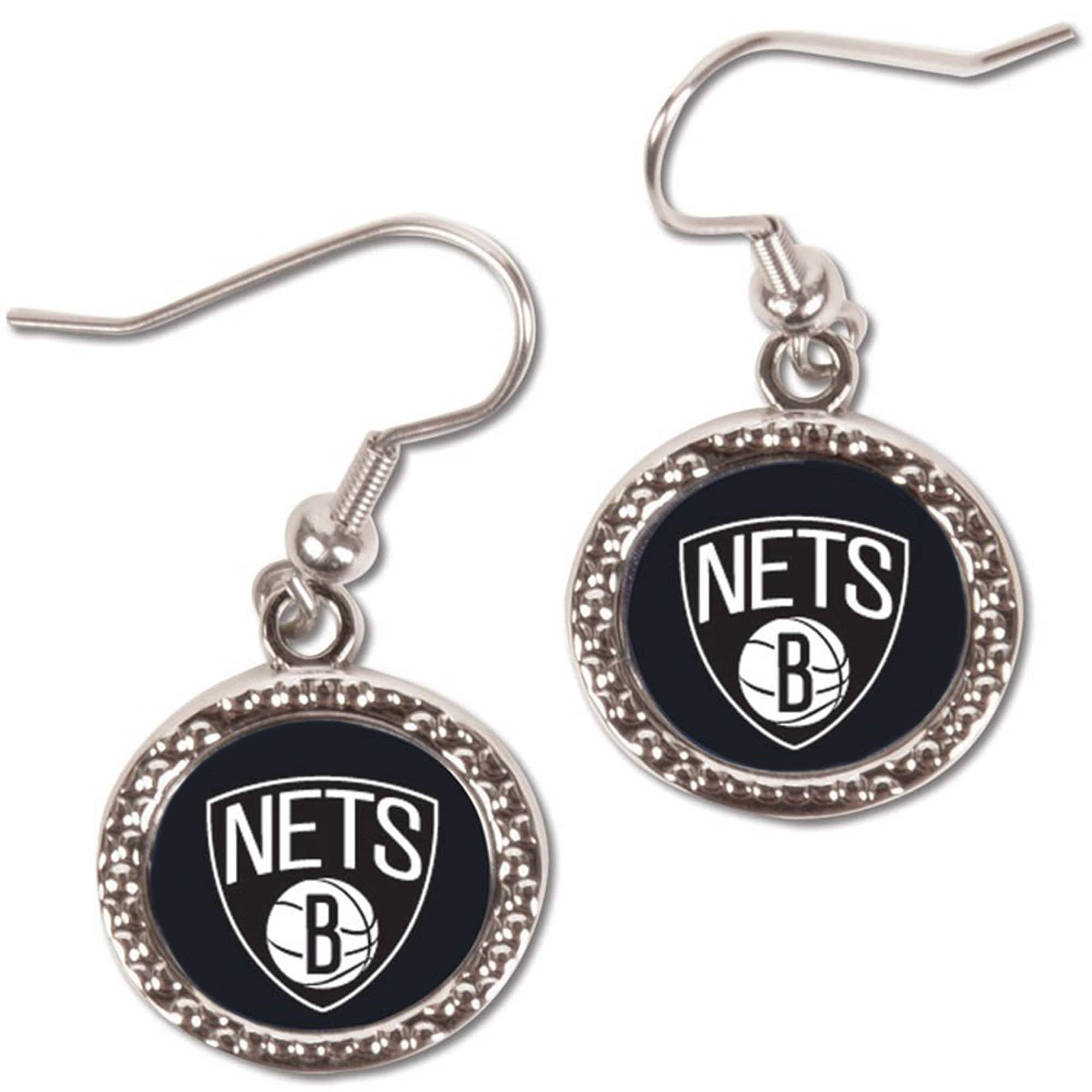Brooklyn Nets WinCraft Women's Round Dangle Earrings