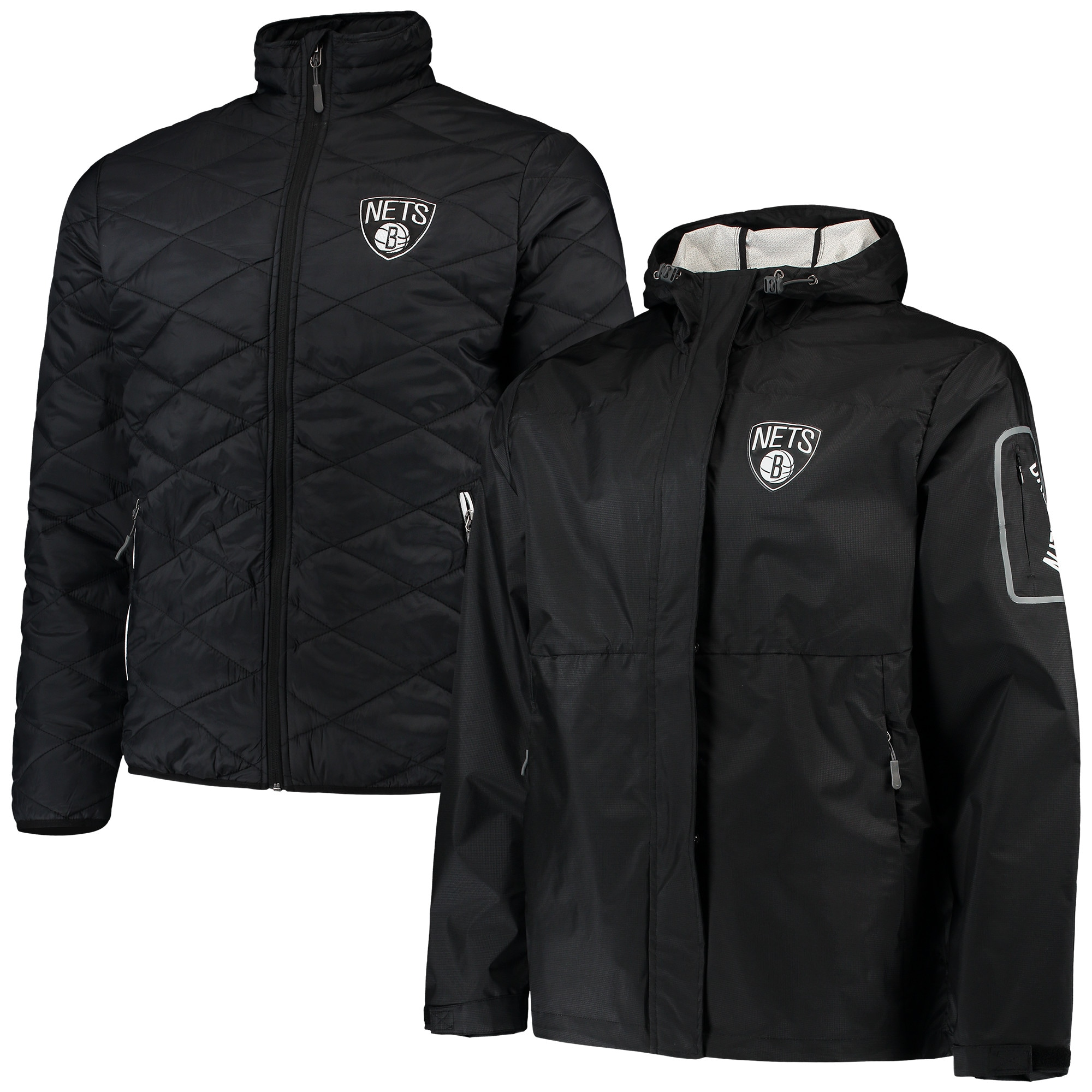 Brooklyn Nets G-III Sports by Carl Banks Acclimation 3-in-1 Systems Full-Zip Jacket - Black