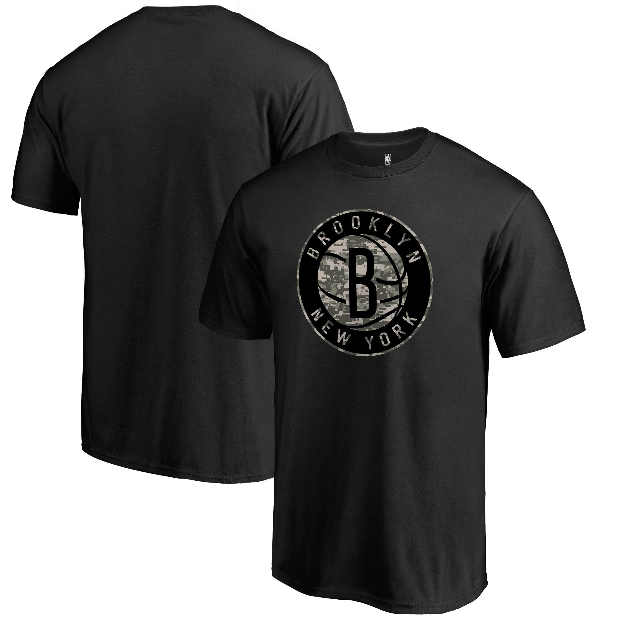 Brooklyn Nets Fanatics Branded Cloak Camo T-Shirt - Black