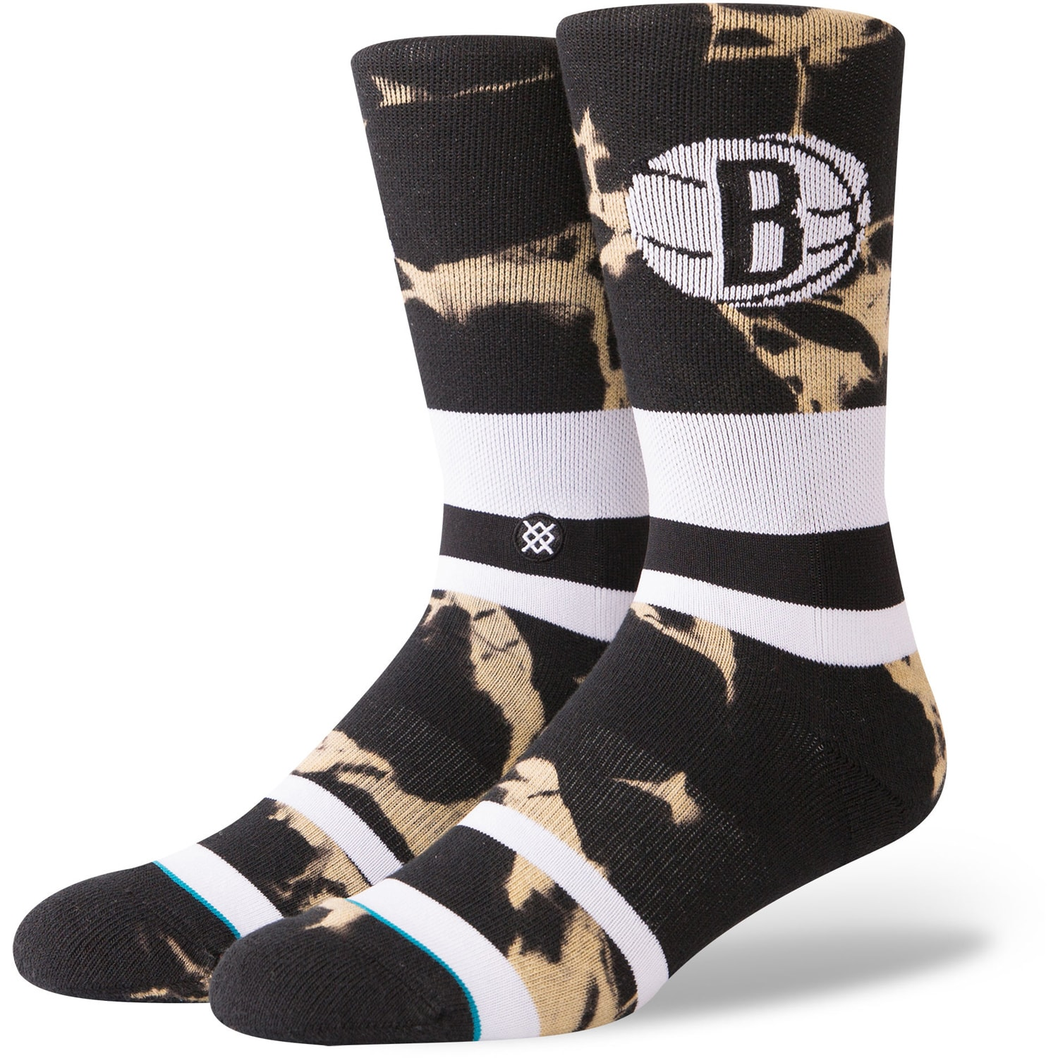 Brooklyn Nets Stance Acid Wash Crew Socks