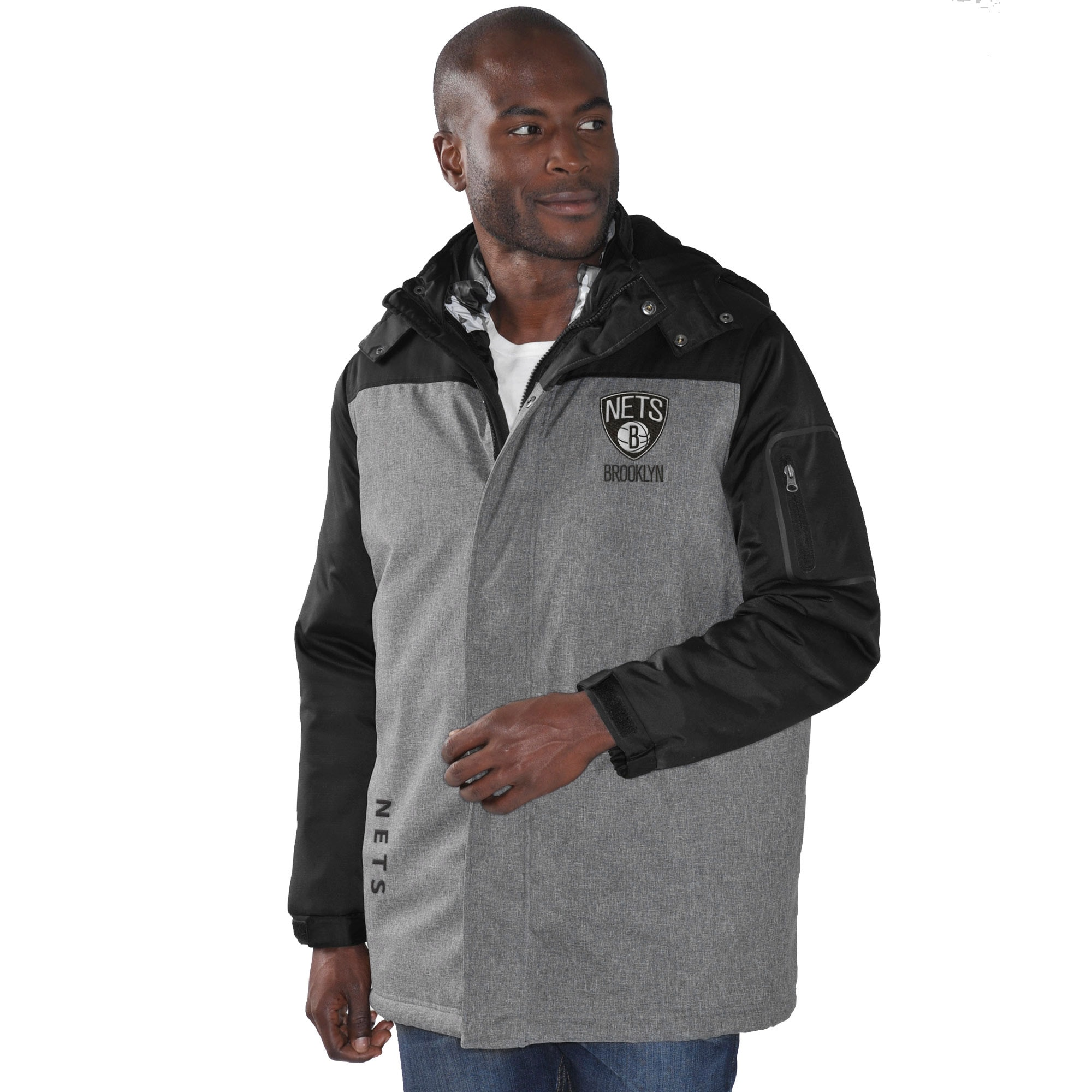 Brooklyn Nets G-III Sports by Carl Banks 3-in-1 Systems Jacket - Charcoal/Camo