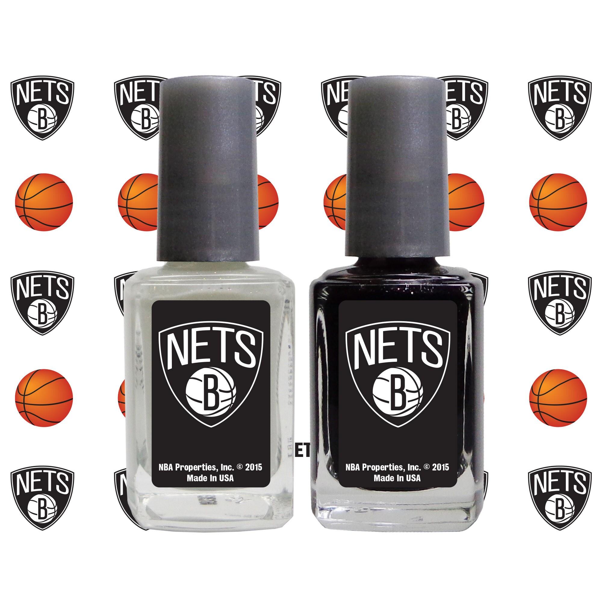 Brooklyn Nets 2-Pack Nail Polish with Nail Decal