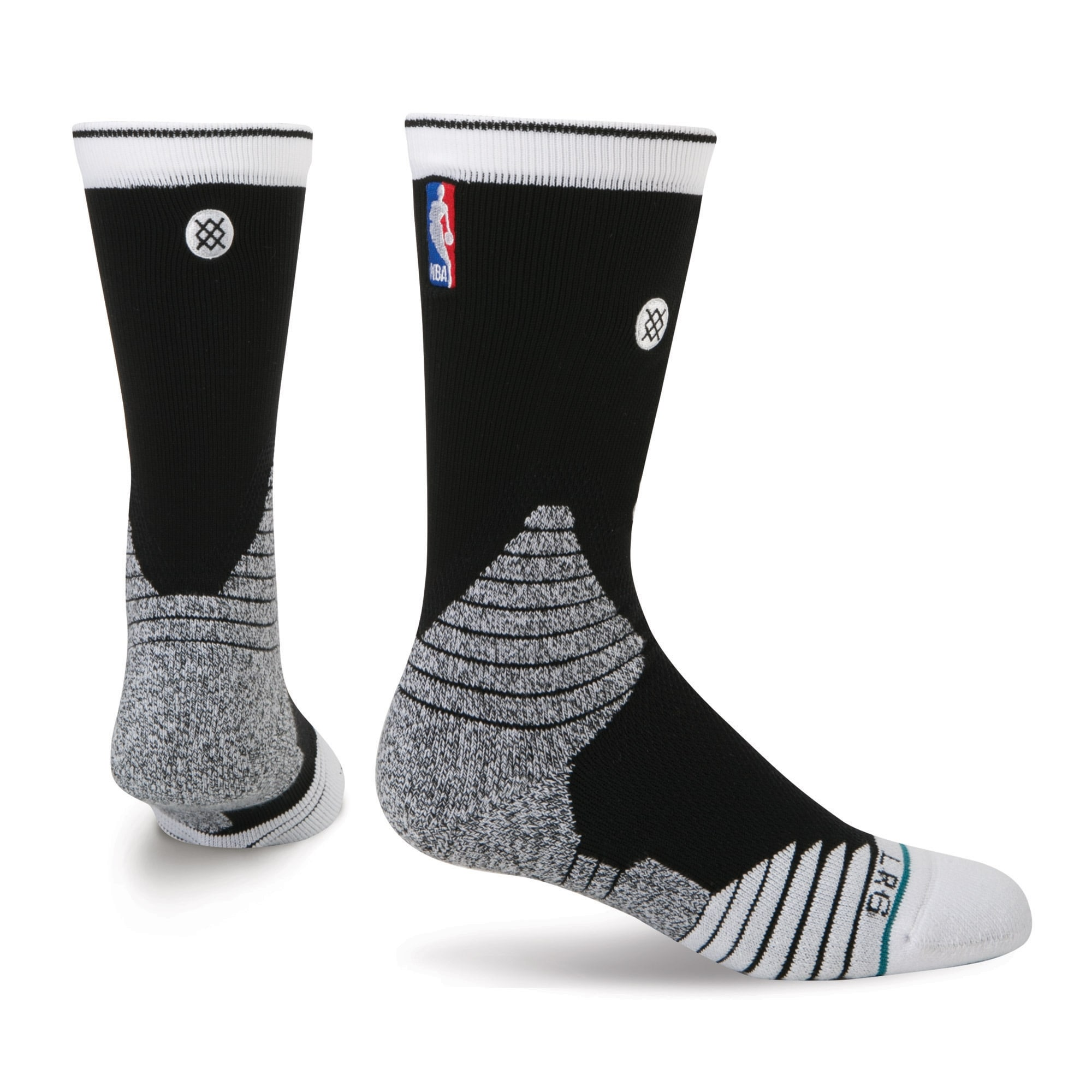 Brooklyn Nets Stance Core Crew Socks - Black
