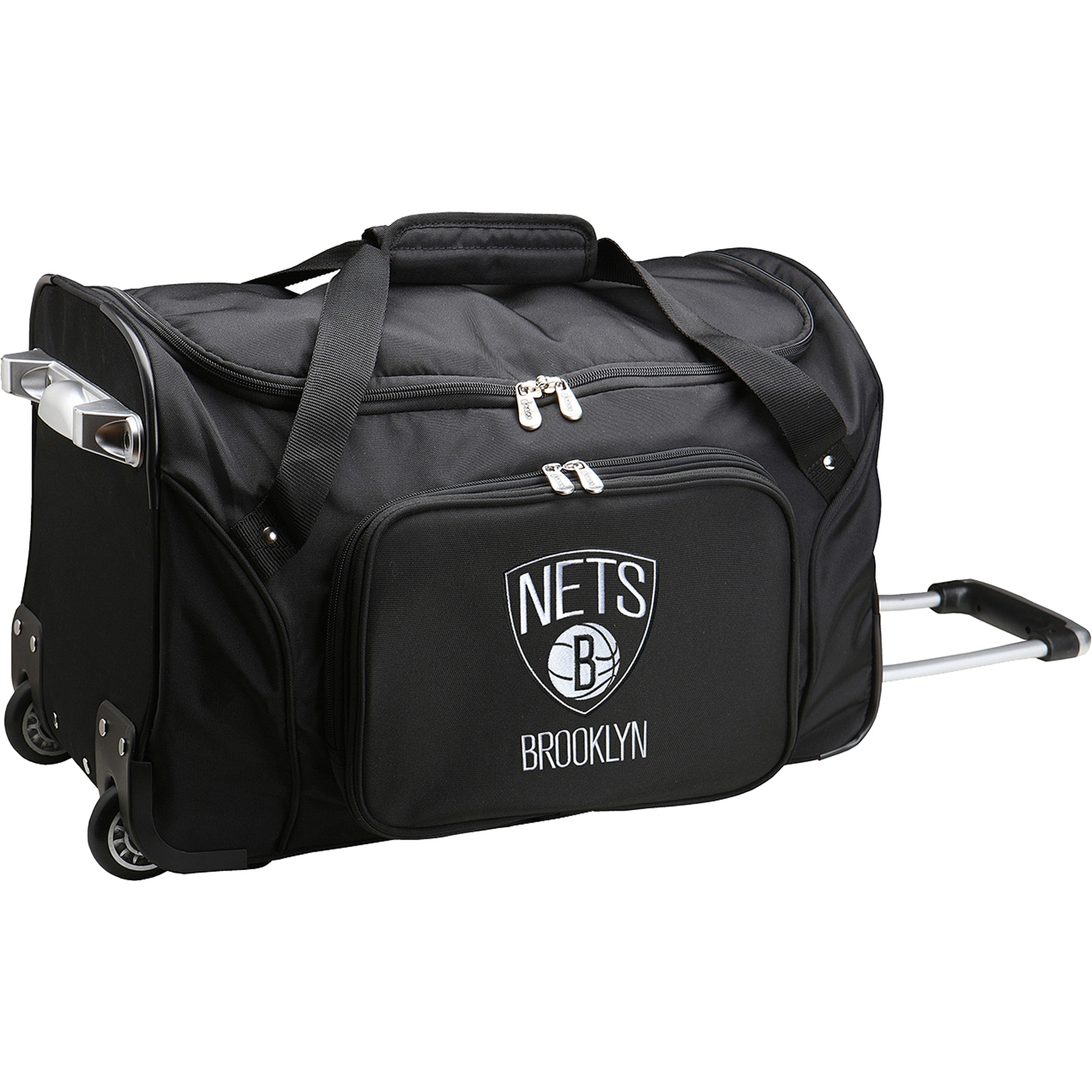 "Brooklyn Nets 22"" 2-Wheeled Duffel Bag - Black"