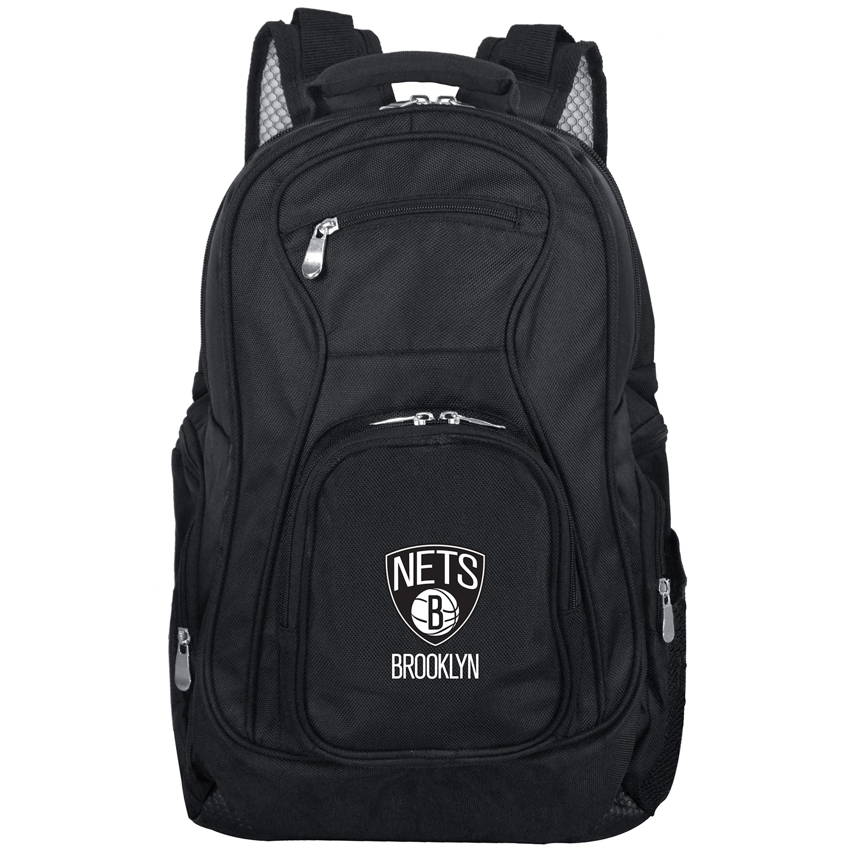 "Brooklyn Nets 19"" Laptop Travel Backpack - Black"