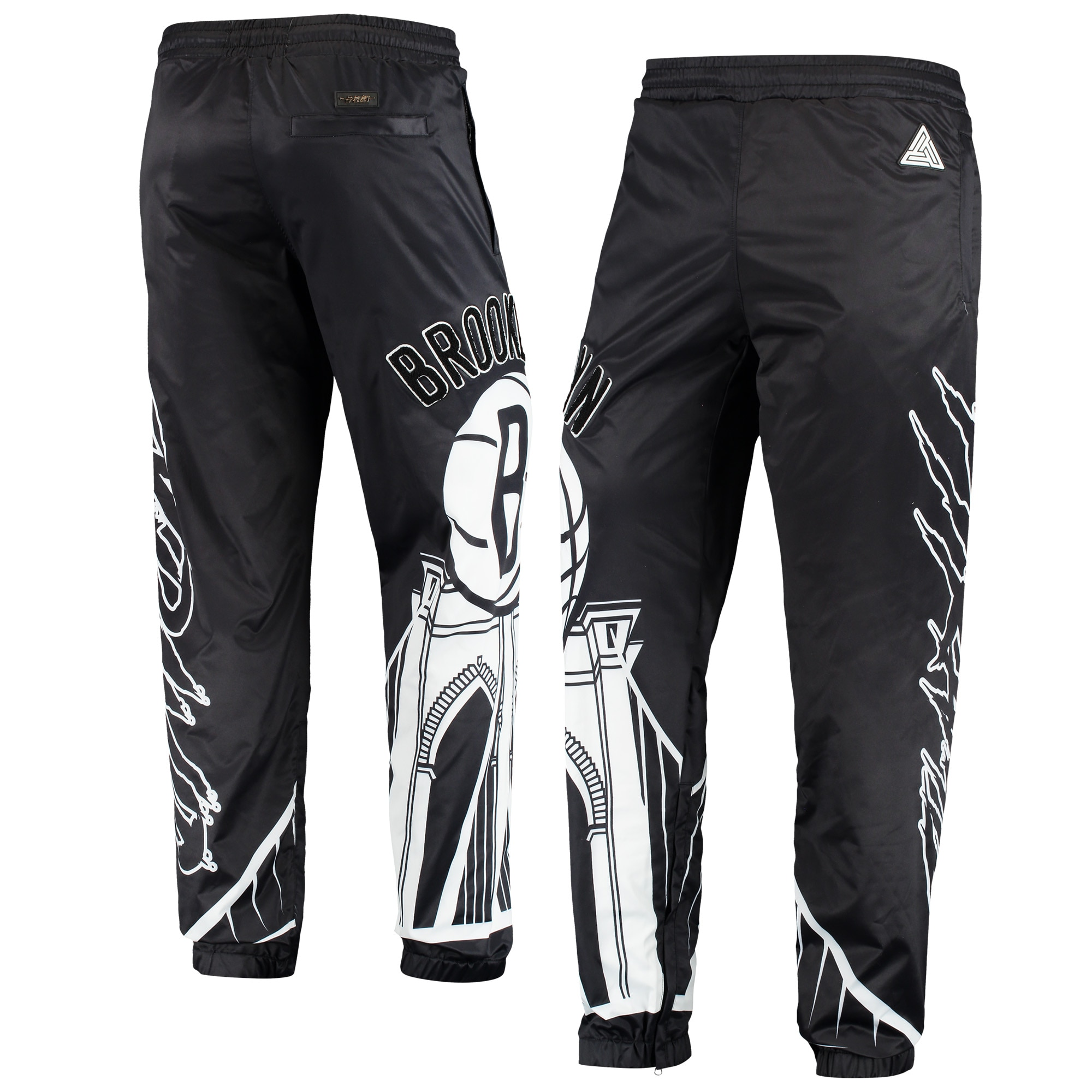 Brooklyn Nets Sublimated Jogger Pants - Black