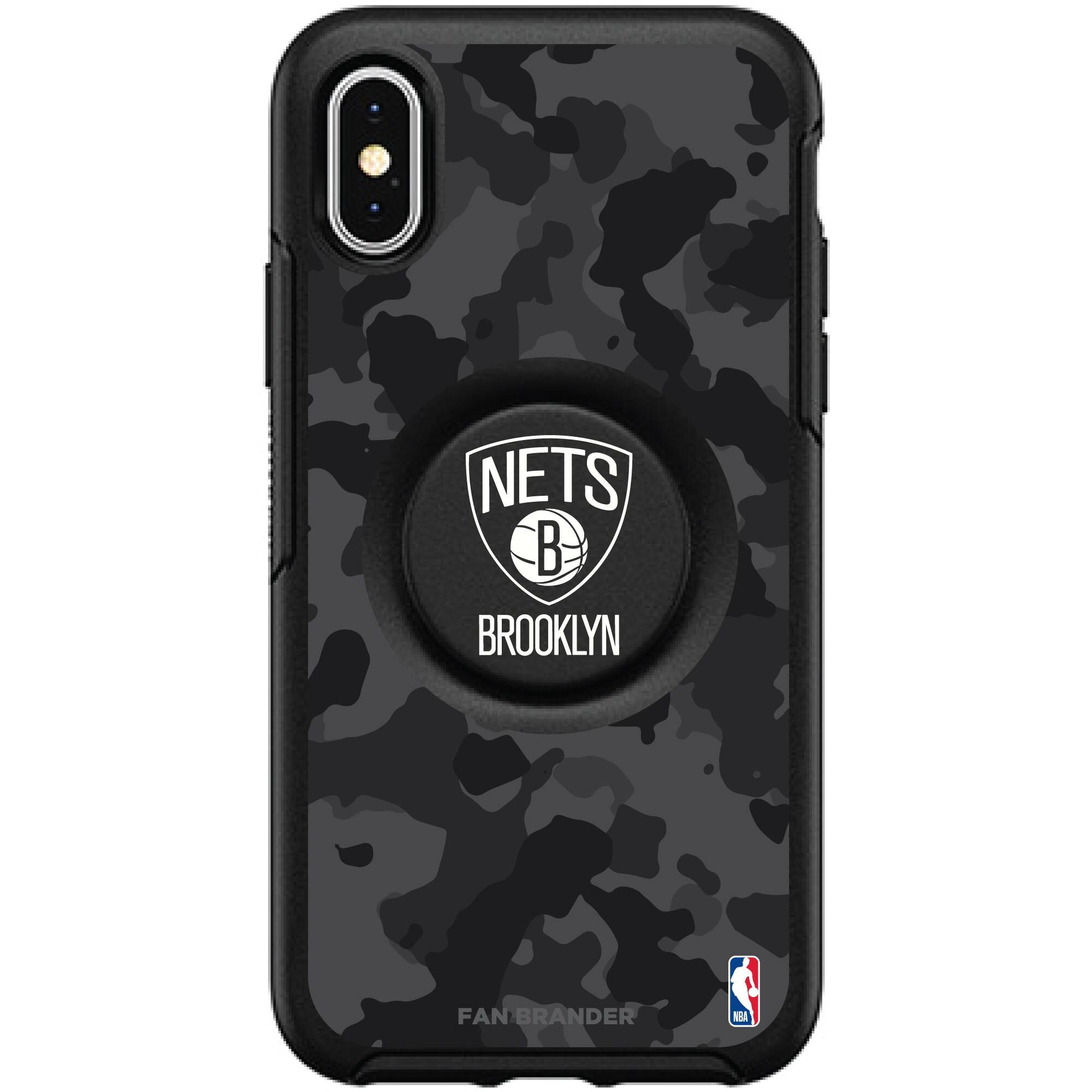 Brooklyn Nets OtterBox Otter + PopSocket Symmetry Urban Camo iPhone Case