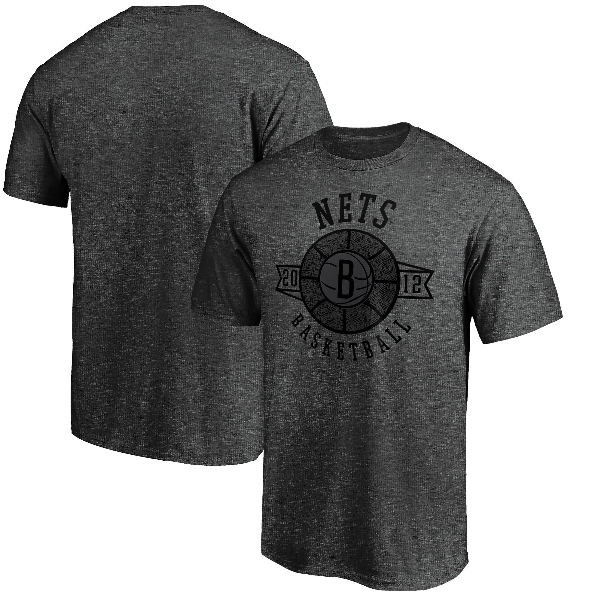 Brooklyn Nets Fanatics Branded Showtime International Foul T-Shirt - Heathered Charcoal