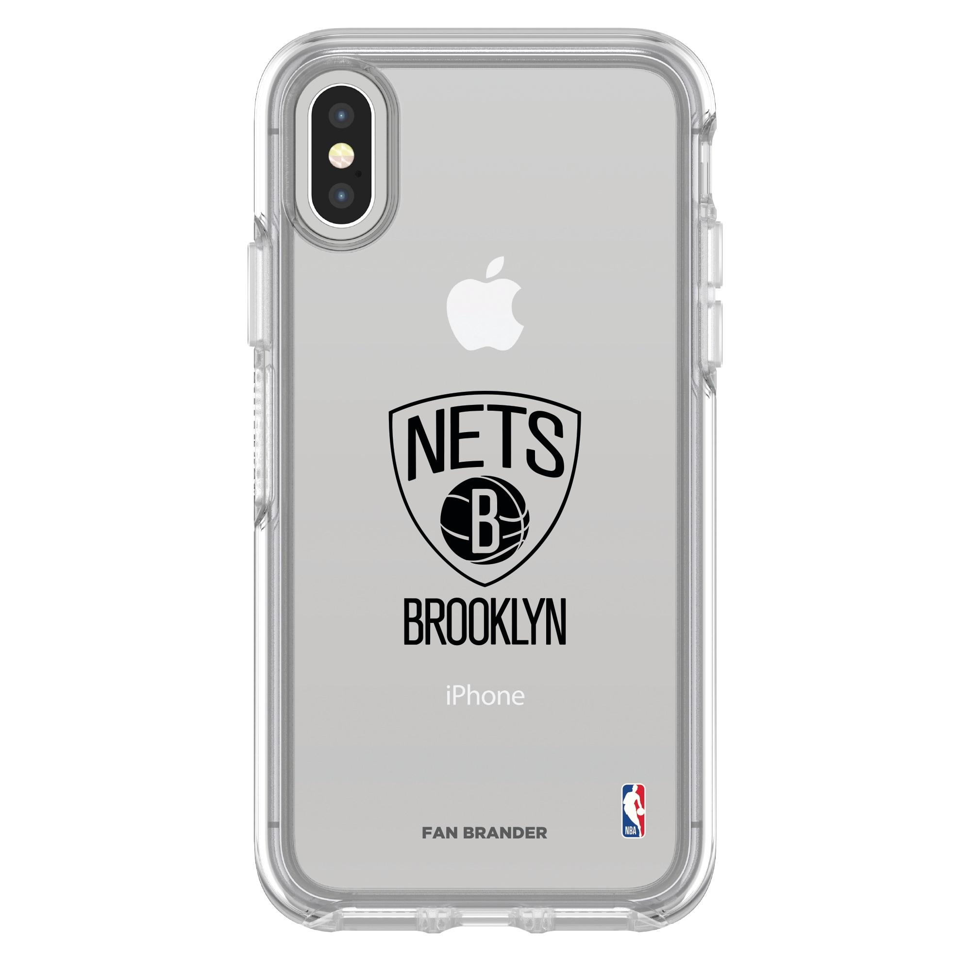 Brooklyn Nets OtterBox Clear iPhone Symmetry Case