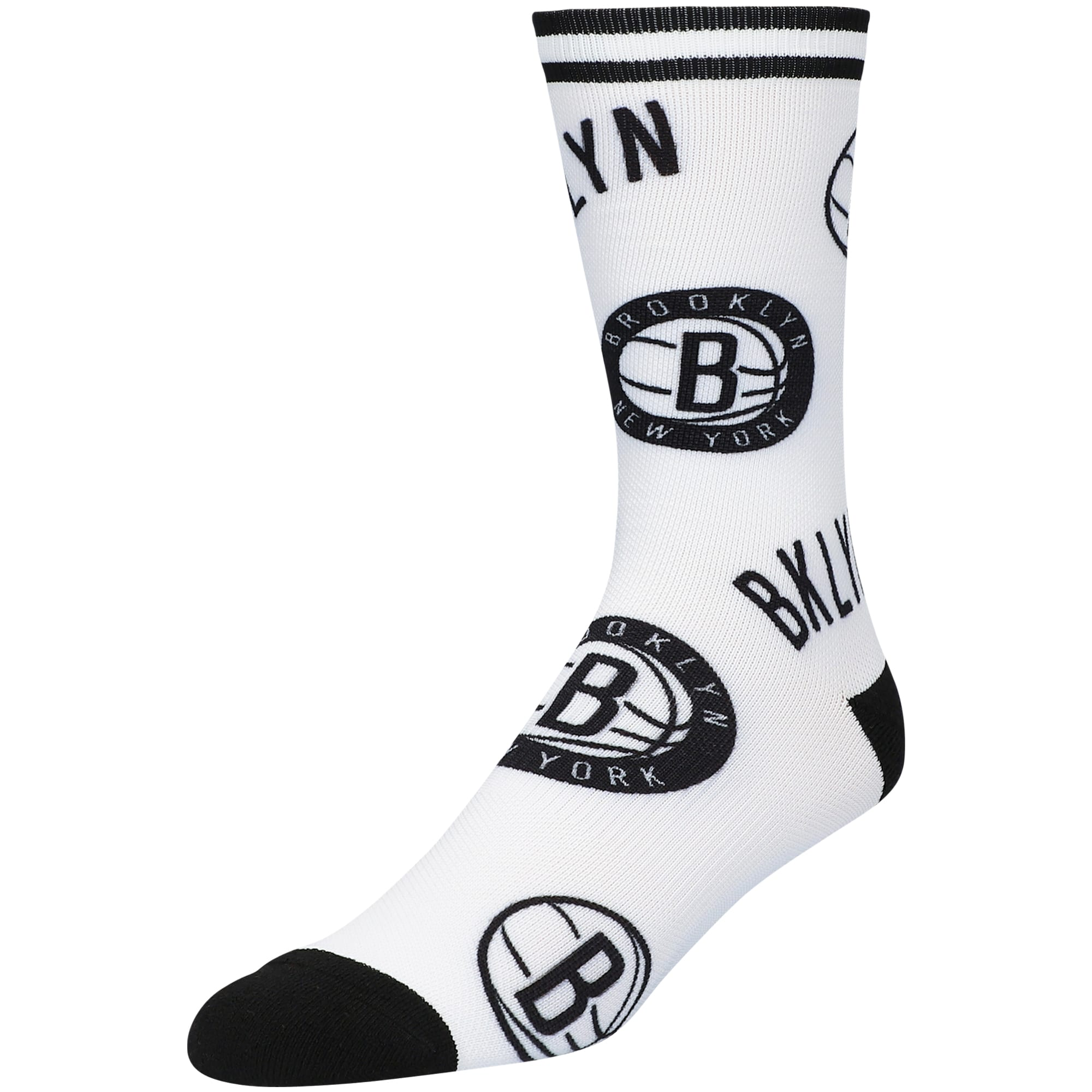 Brooklyn Nets Panel Crew Socks