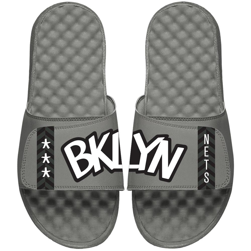 Brooklyn Nets ISlide Statement Jersey Slide Sandals - Gray
