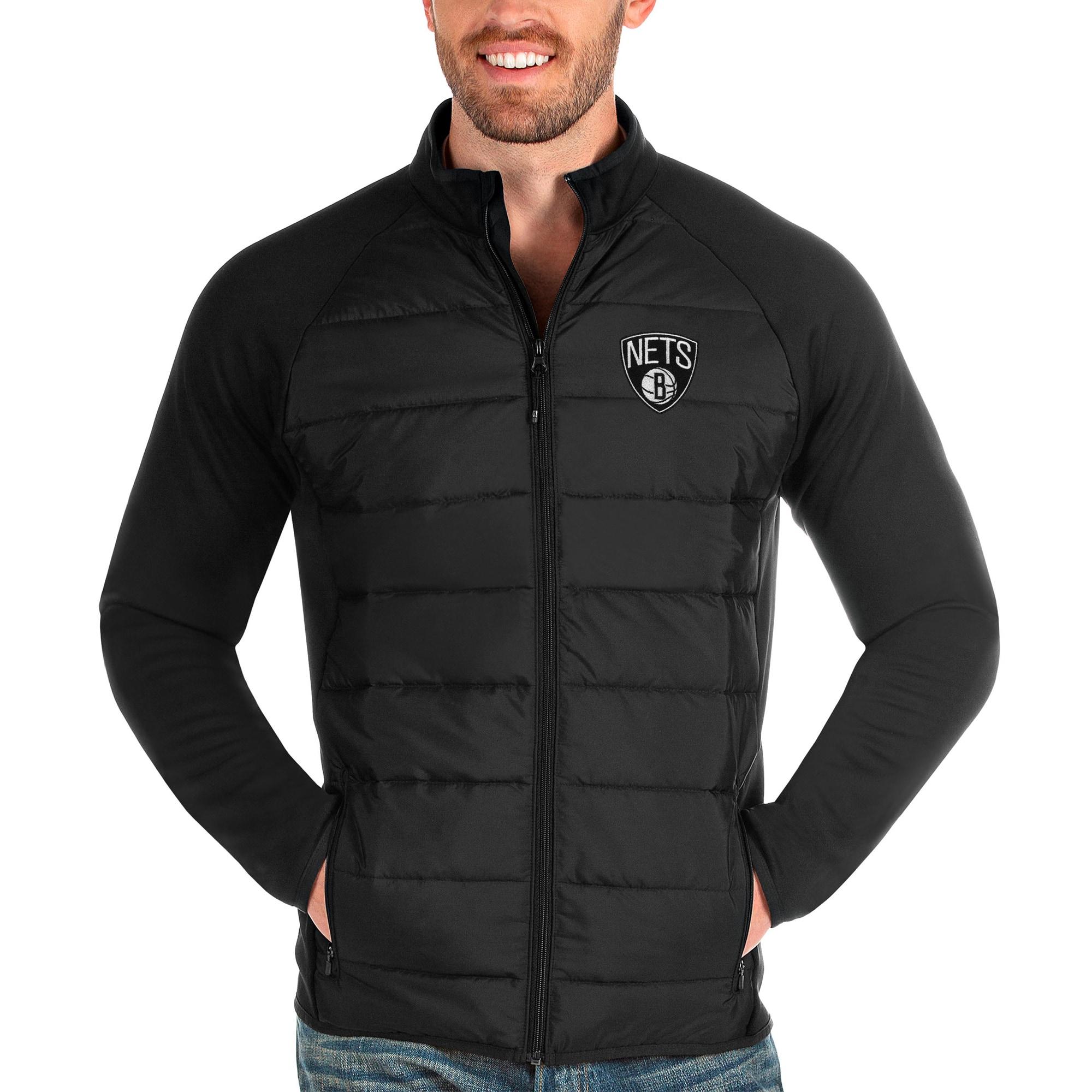 Brooklyn Nets Antigua Altitude Full-Zip Jacket - Black