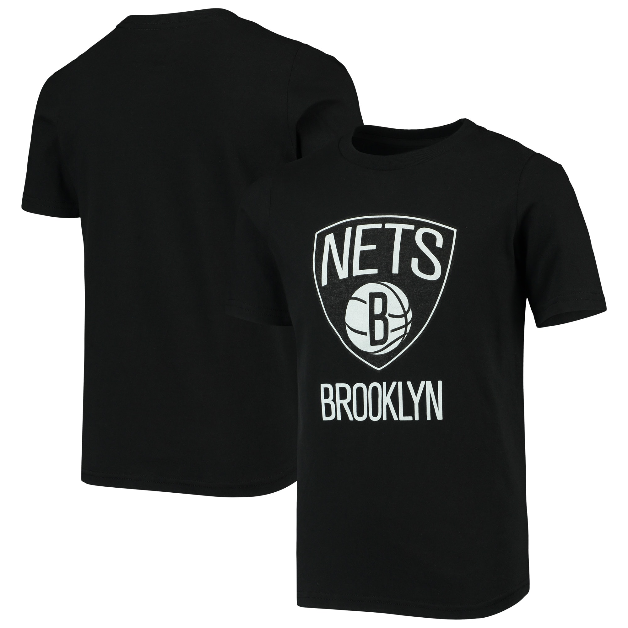 Brooklyn Nets Youth Primary Logo T-Shirt - Black