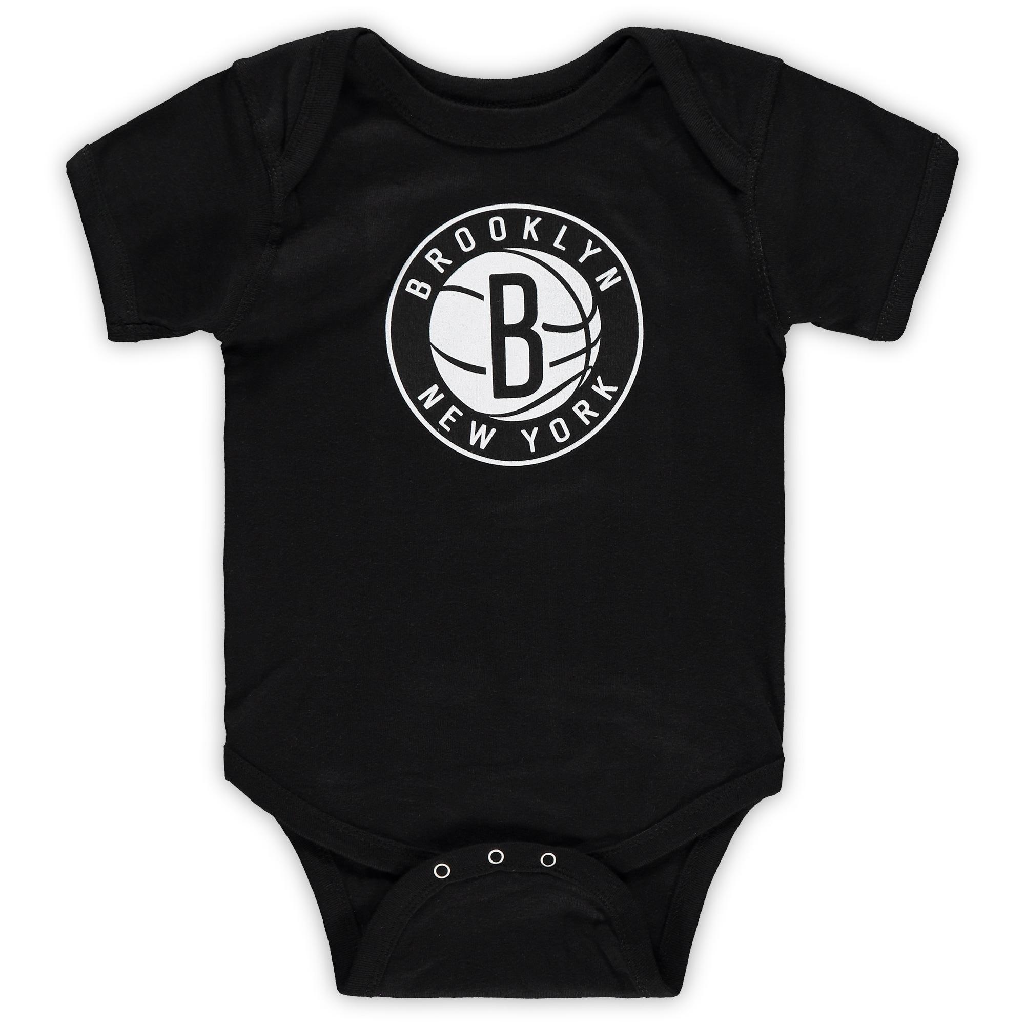 Brooklyn Nets Infant Primary Team Logo Bodysuit - Black