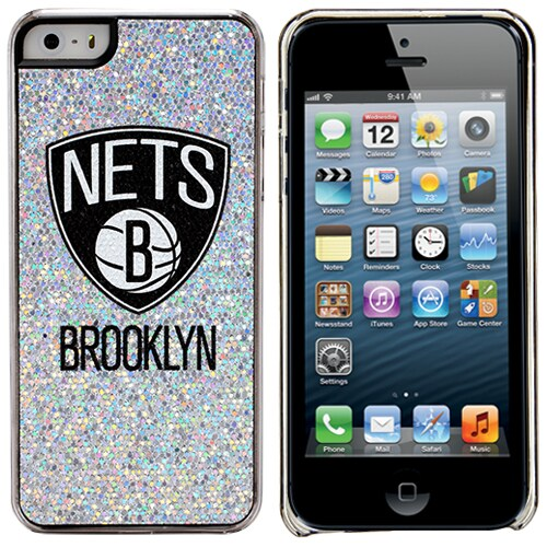 Brooklyn Nets iPhone 5/5s Bling Thinshield Snap-On Case - Silver