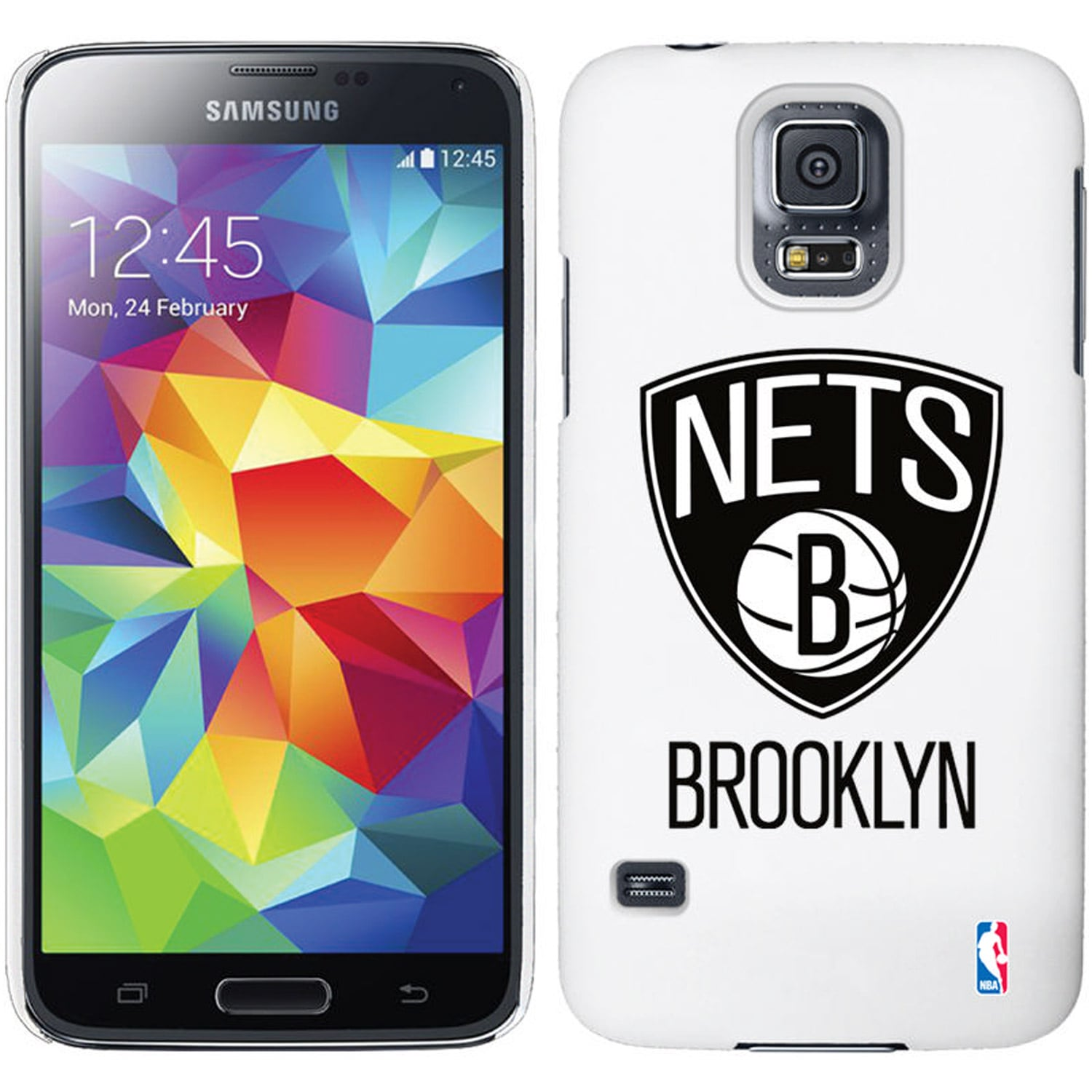 Brooklyn Nets Galaxy S5 Primary Logo Thinshield Case - White