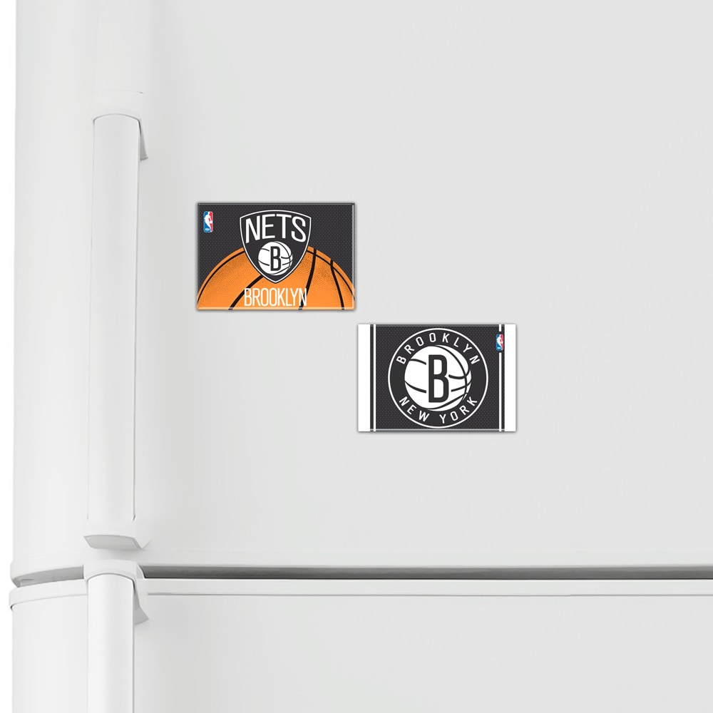"""Brooklyn Nets WinCraft 2-Pack of 2"""" x 3"""" Magnets"""