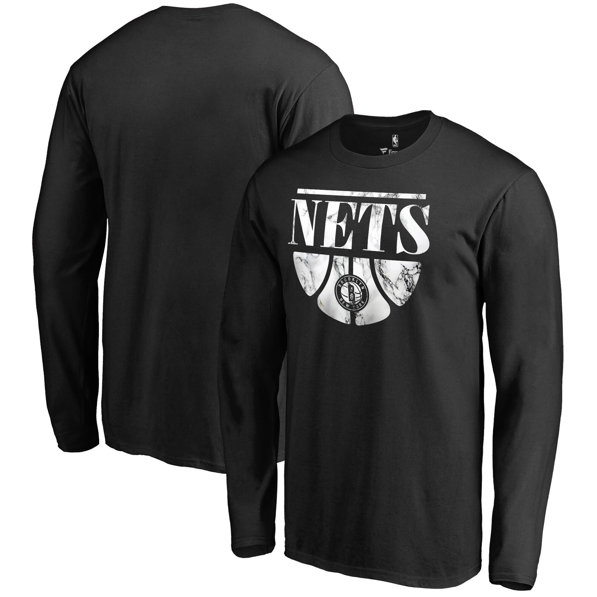 Brooklyn Nets Fanatics Branded Buckets Long Sleeve T-Shirt - Black