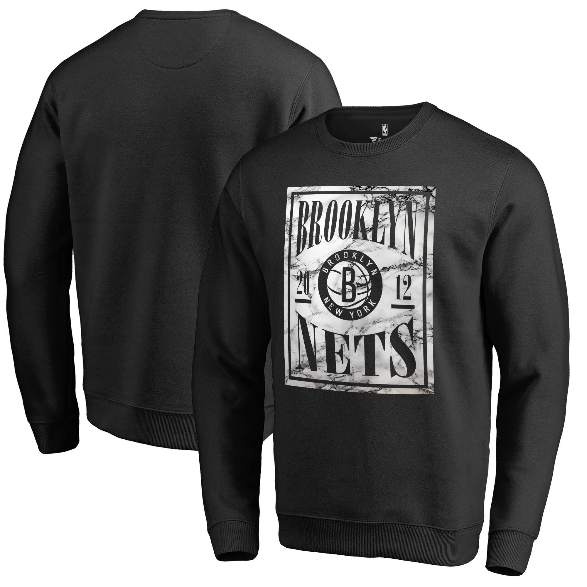 Brooklyn Nets Fanatics Branded Court Vision Crew Sweatshirt - Black