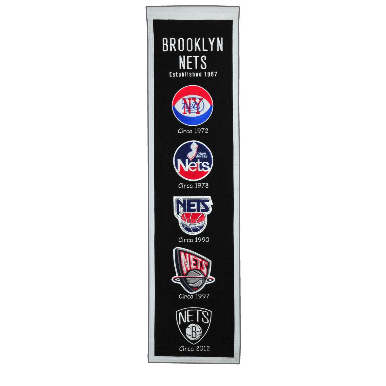 "Brooklyn Nets 8"" x 32"" Premium Heritage Banner"