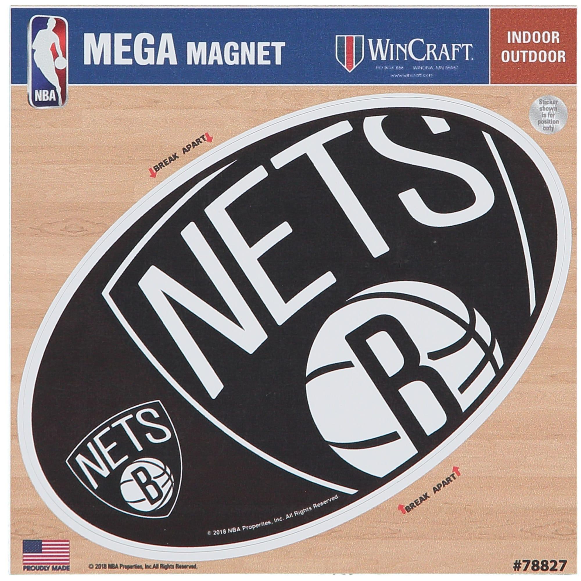 "Brooklyn Nets 6"" x 6"" Mega Magnet"
