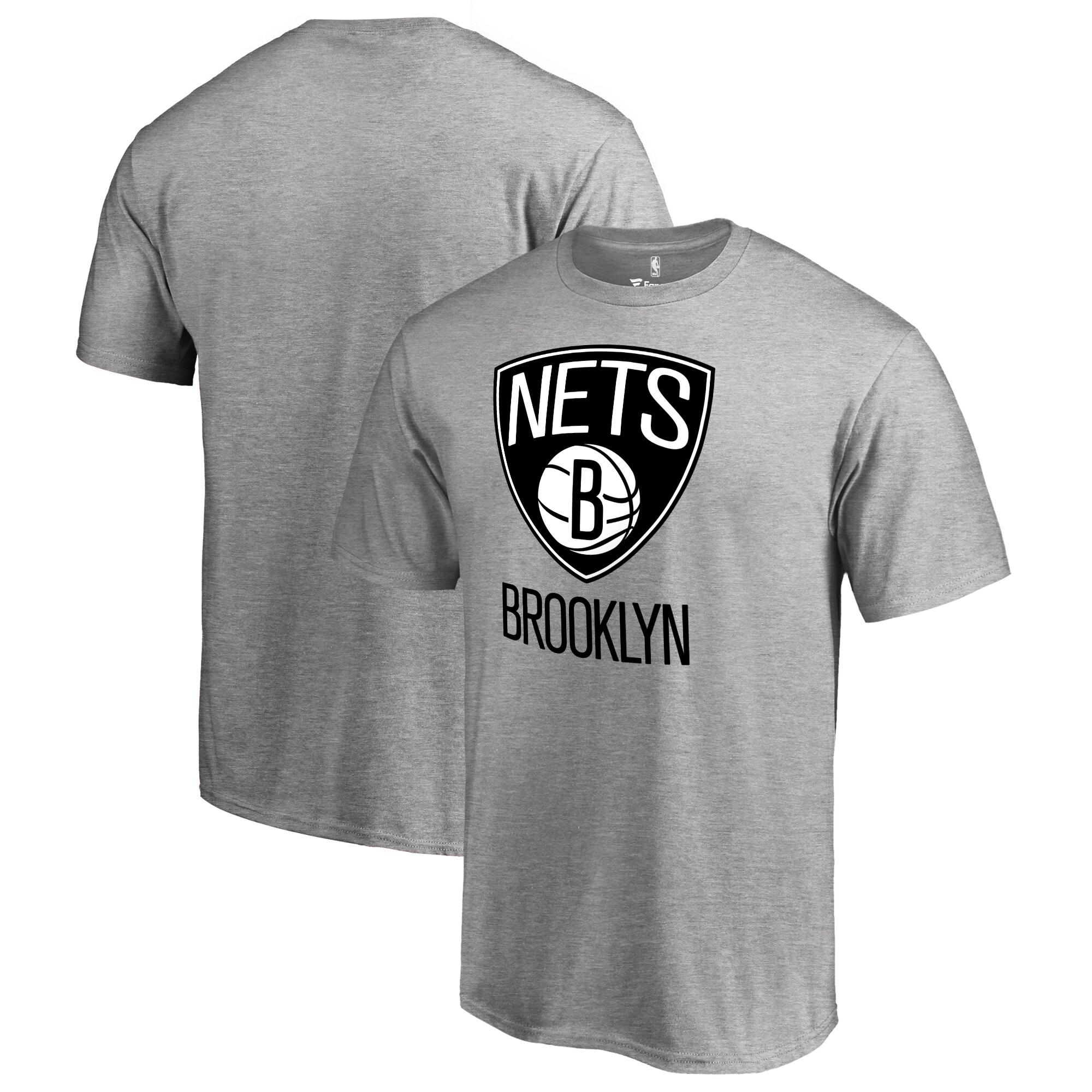 Brooklyn Nets Fanatics Branded Big & Tall Primary Logo T-Shirt - Ash