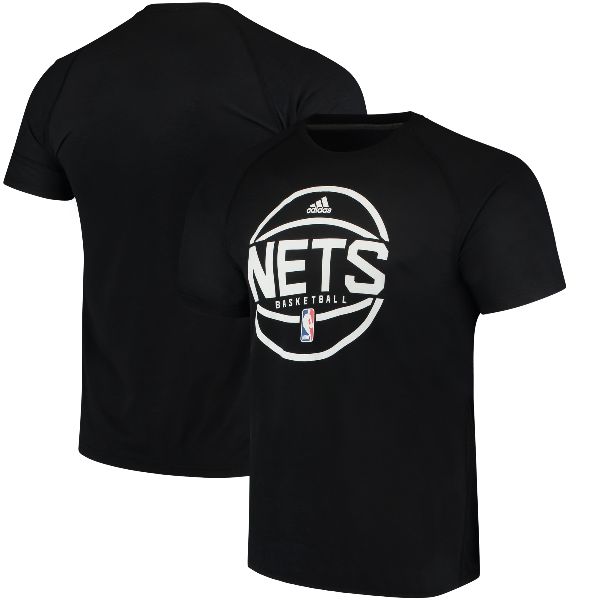 Brooklyn Nets adidas On-Court Ultimate climalite T-Shirt - Black