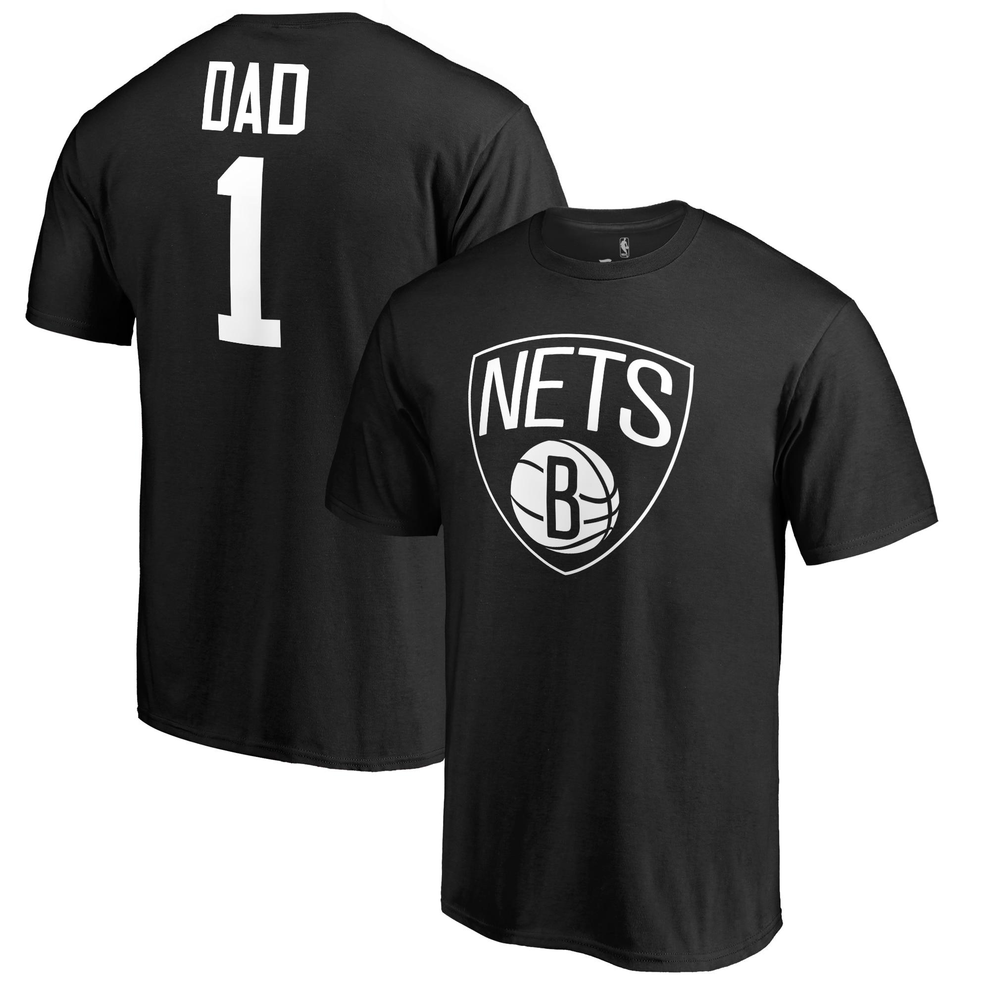 Brooklyn Nets Fanatics Branded Big & Tall #1 Dad T-Shirt - Black