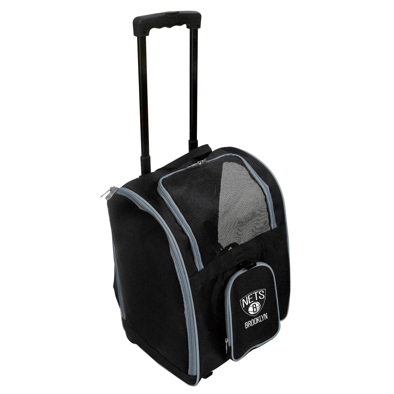 Brooklyn Nets 2-Wheeled Roller Pet Carrier - Black
