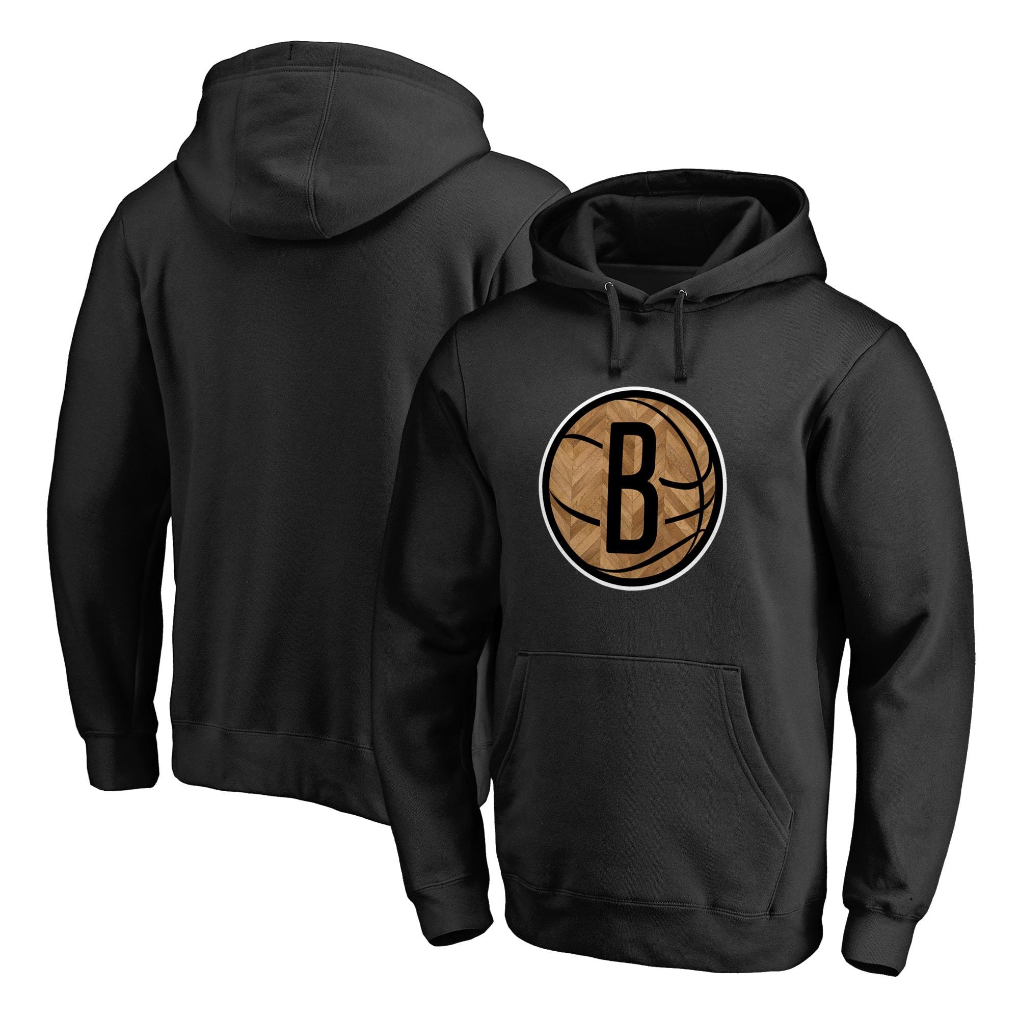 Brooklyn Nets Fanatics Branded Hardwood Pullover Hoodie - Black