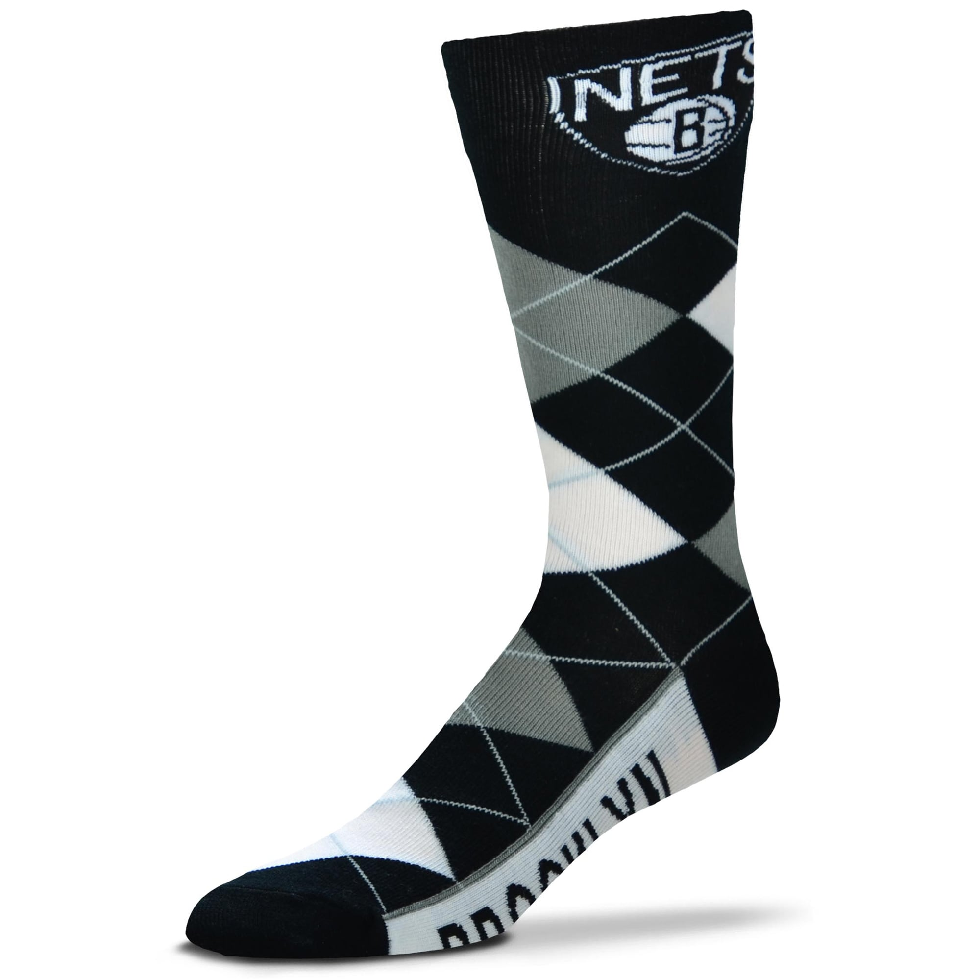 Brooklyn Nets For Bare Feet Argyle Crew Socks