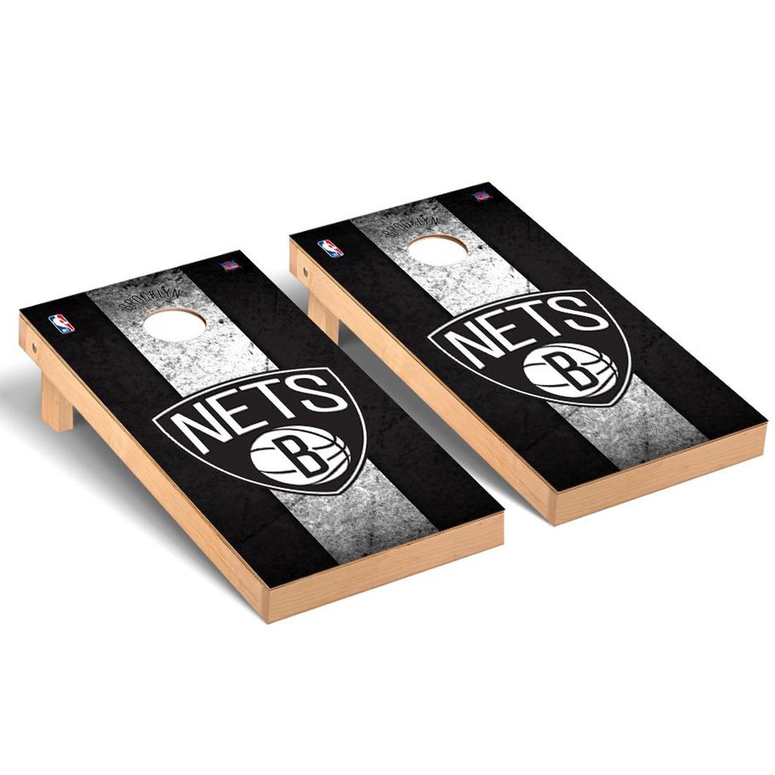 Brooklyn Nets 2' x 4' Vintage Museum Cornhole Board Tailgate Toss Set