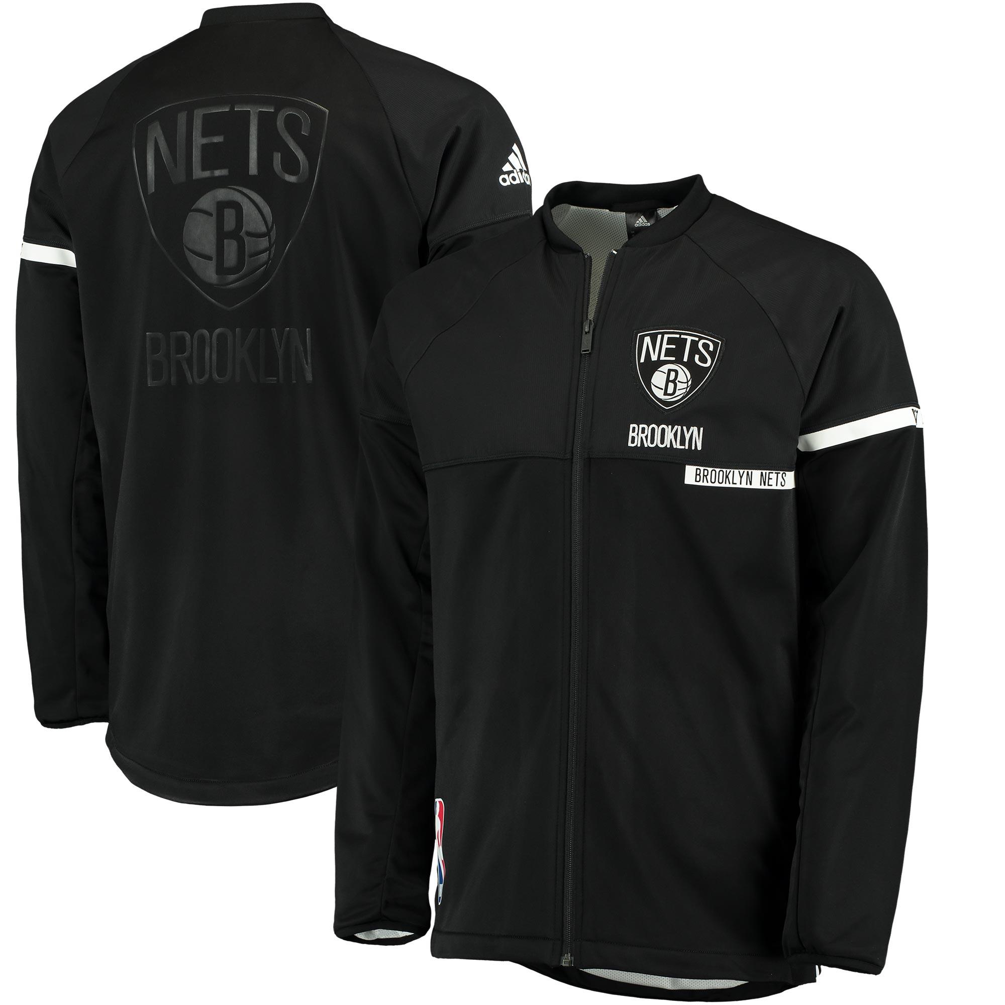 Brooklyn Nets adidas 2016 On-Court Jacket - Black