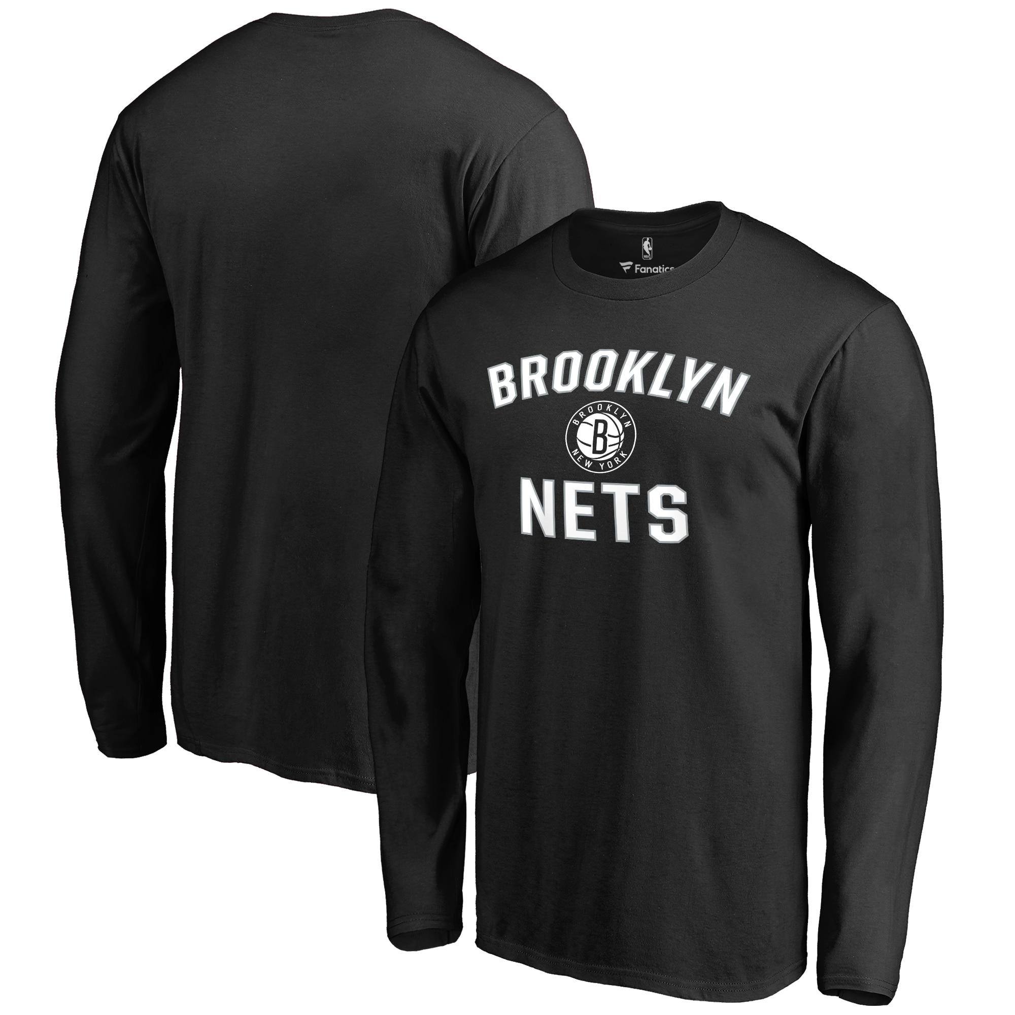 Brooklyn Nets Big & Tall Victory Arch Long Sleeve T-Shirt - Black