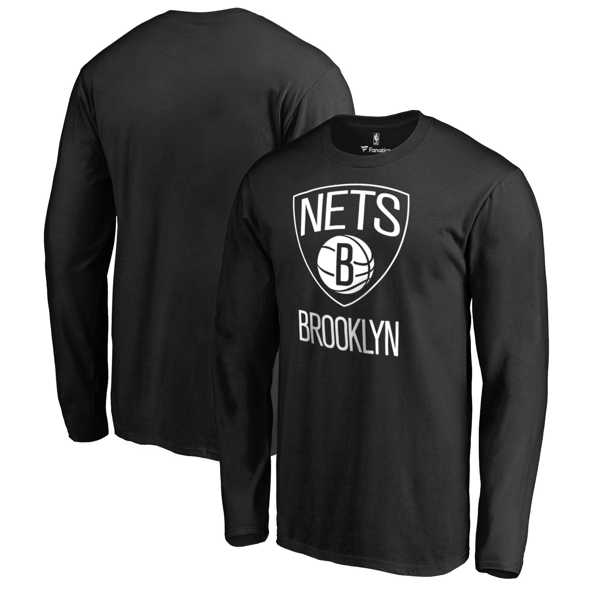 Brooklyn Nets Fanatics Branded Big & Tall Primary Logo Long Sleeve T-Shirt - Black