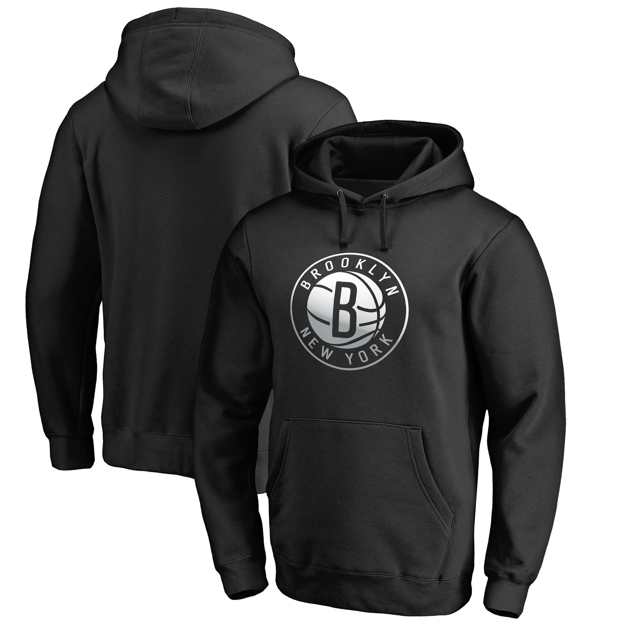 Brooklyn Nets Fanatics Branded Gradient Logo Pullover Hoodie - Black