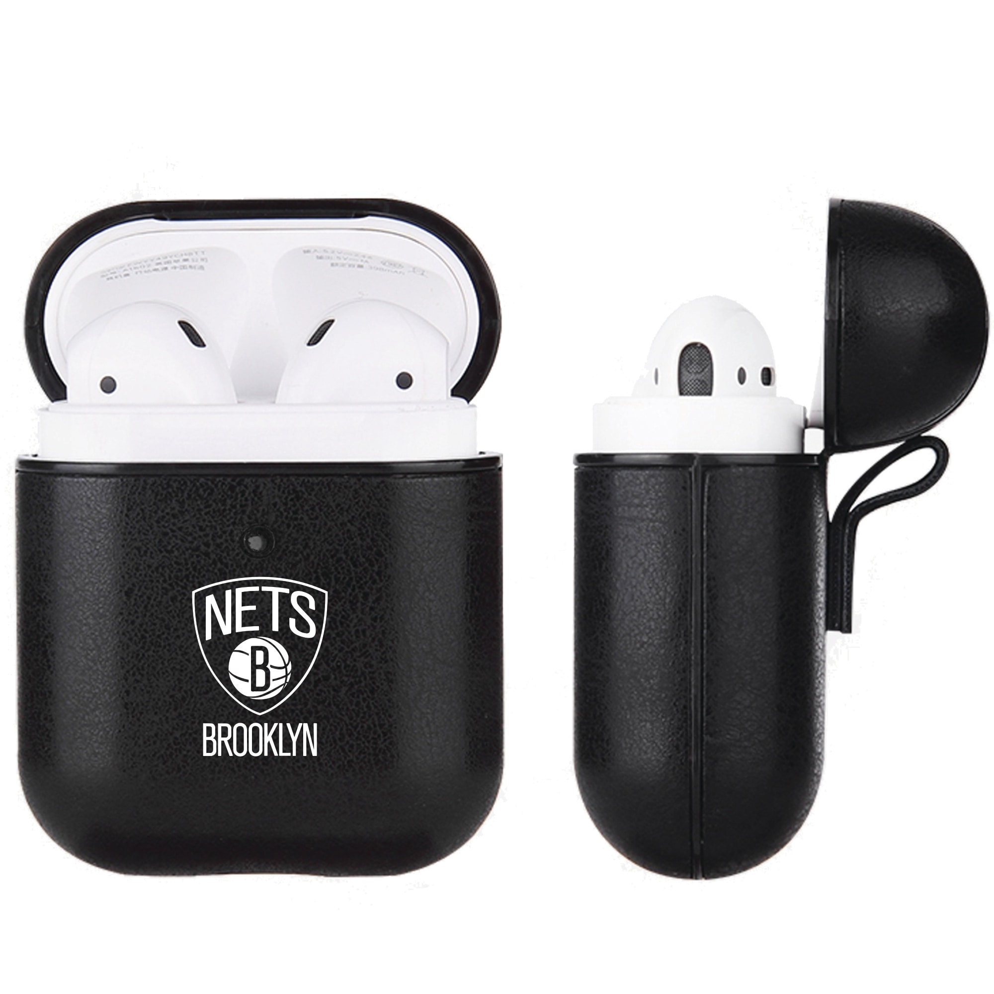 Brooklyn Nets Air Pods Black Leatherette Case